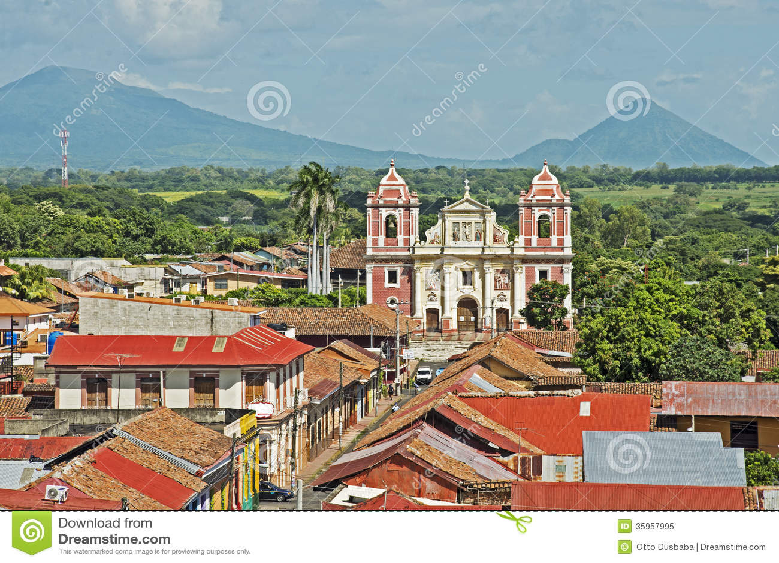 Kyrka för El Calvario i Leon, Nicaragua