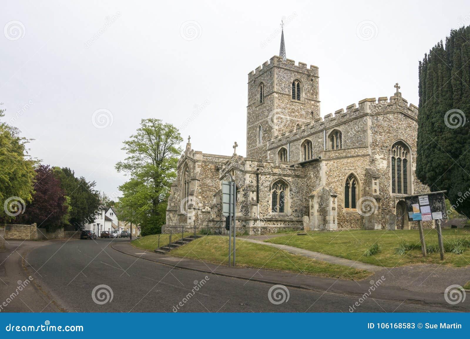 Kyrka för St Mary ` s, Fowlmere, UK