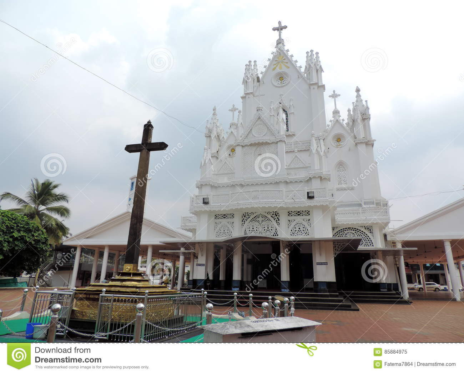 Kyrka i Kerala, Indien