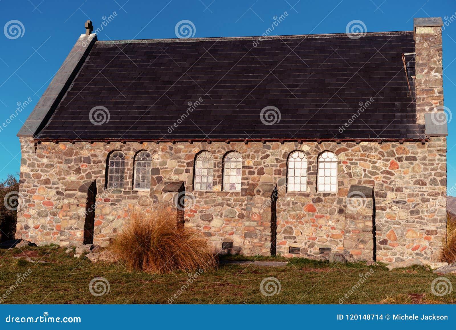 Kyrkan av den bra herden On Lake Tekapo i Nya Zeeland