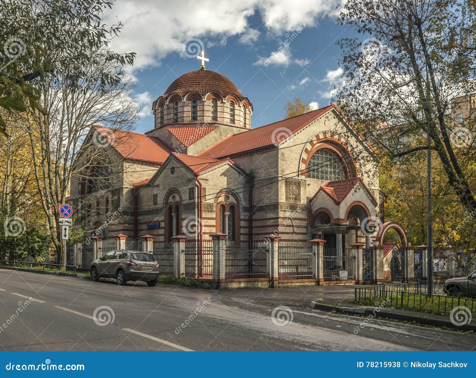 Kyrkan av symbolen av modern av guden tecknet i Kuntsevo