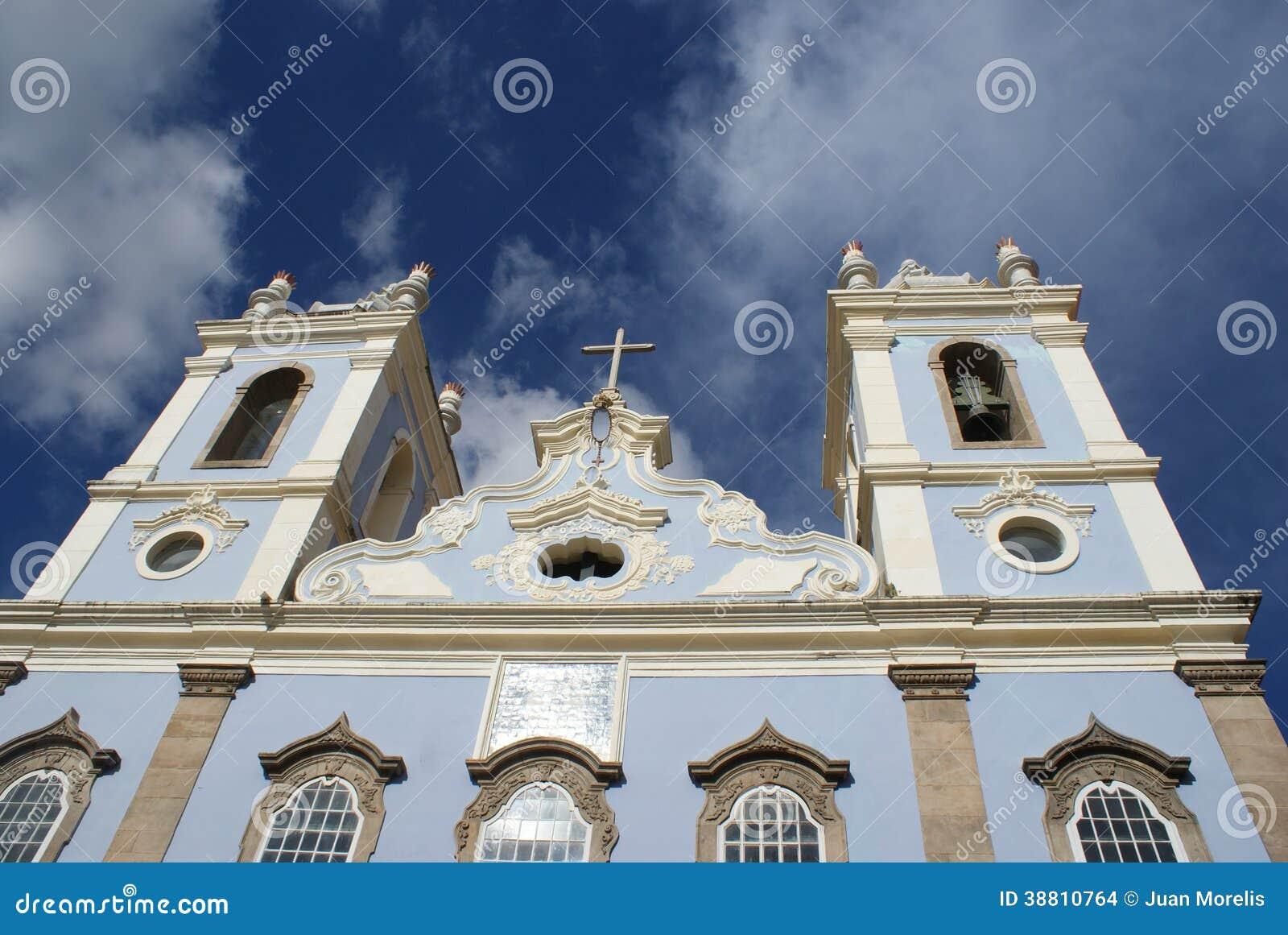 Kyrklig arkitektur Pelourinho Salvador Brazil
