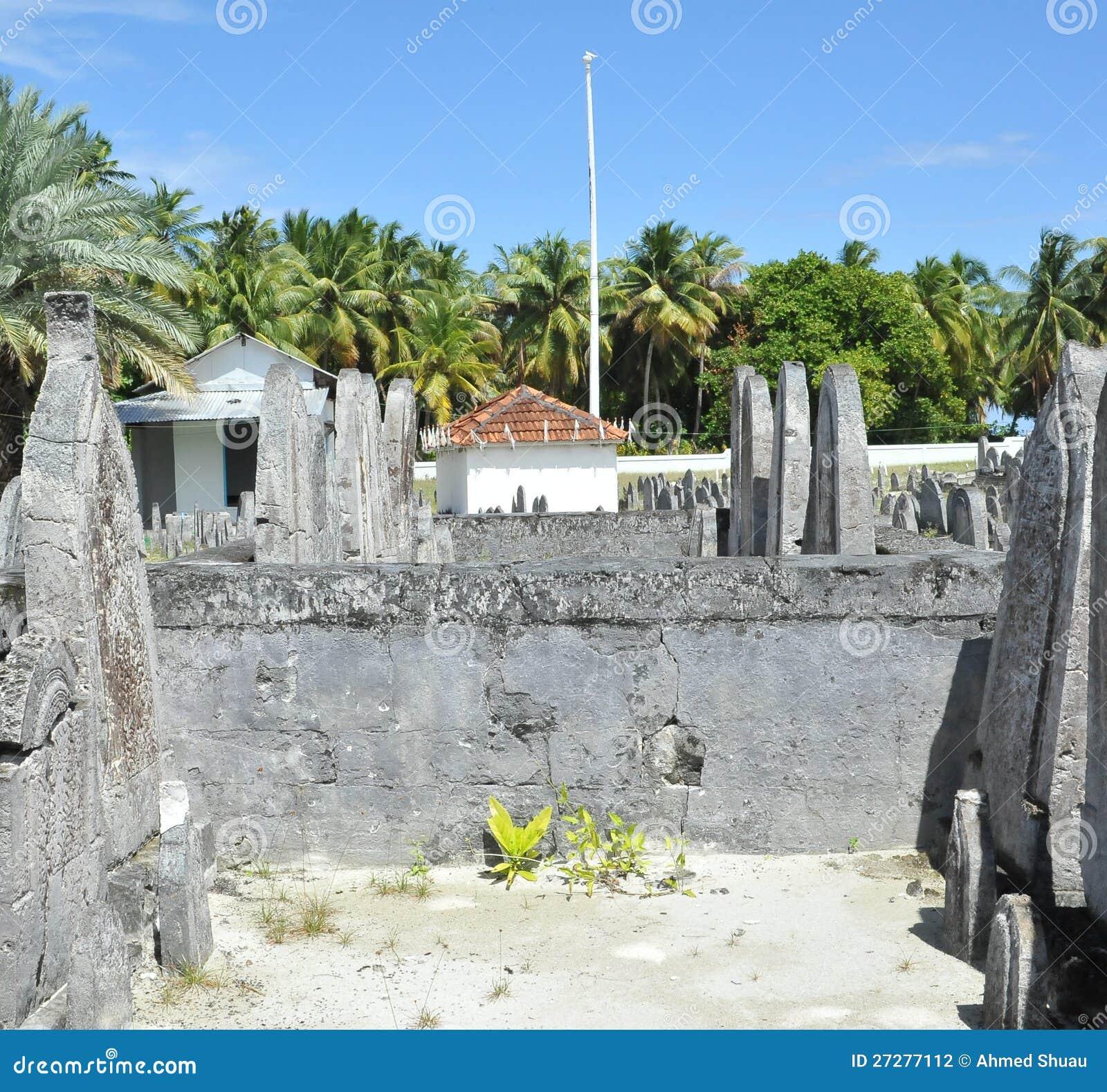 Kyrkogård i Maldiverna