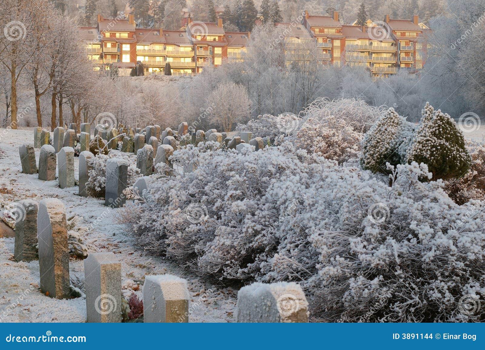 Kyrkogårdvinter