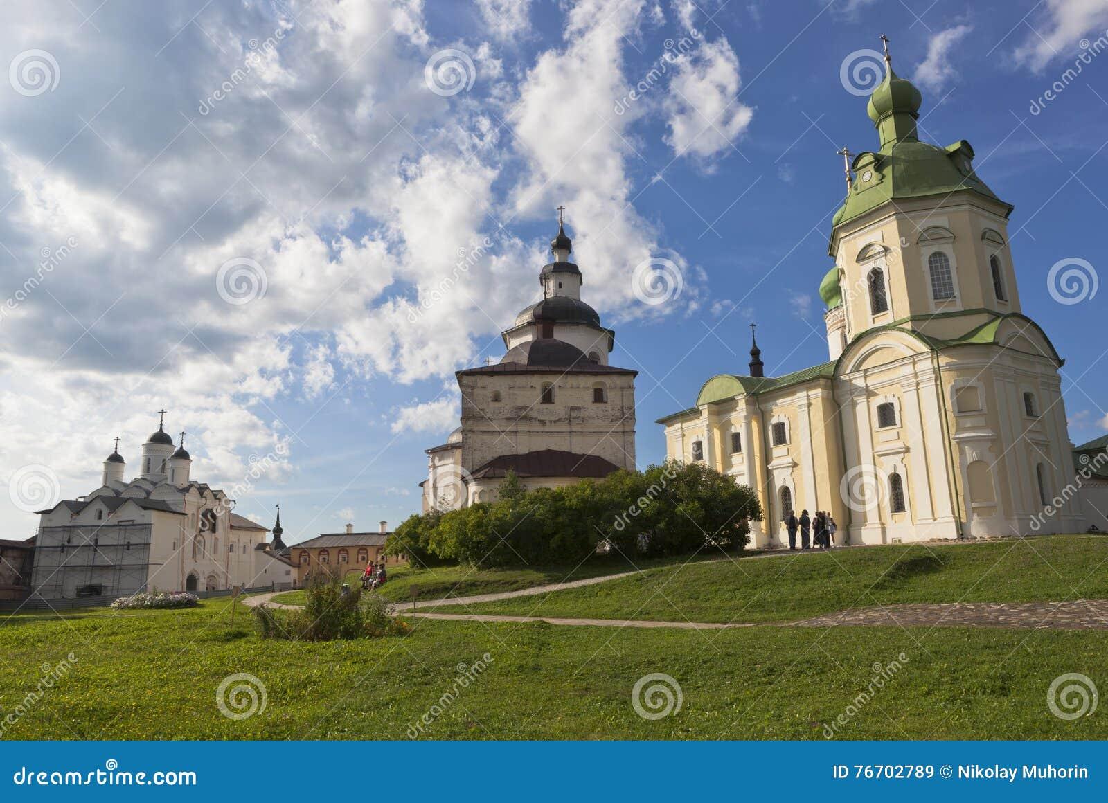 Kyrktar omgestaltning av vår Herre, ärkeängel Gabriel och Kirill Belozersky i den Kirillo-Belozersky klosterVologda regionen