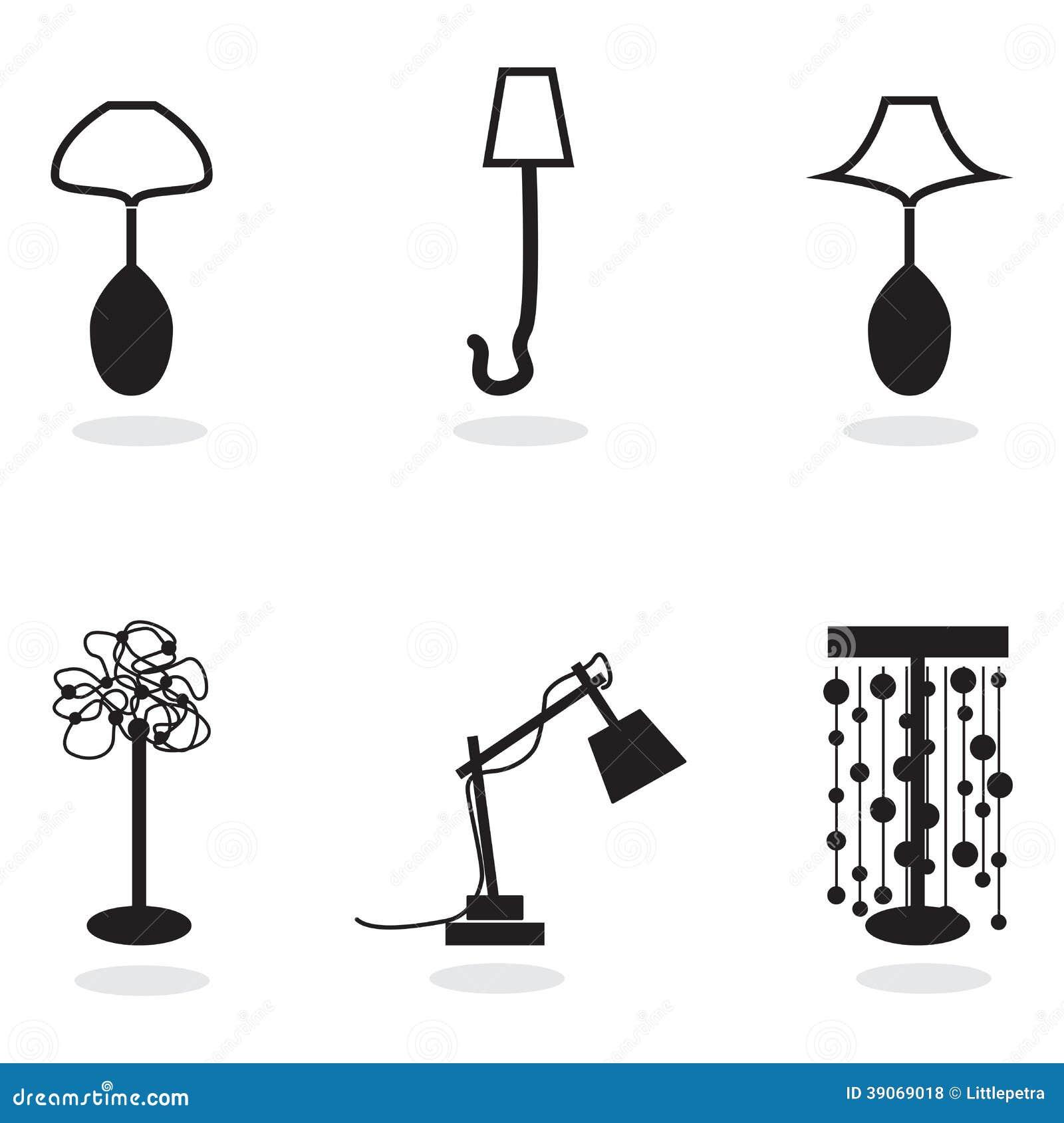 ilustraciónIlustración blanco negro de Lámpara stock de y Nvnw8mO0