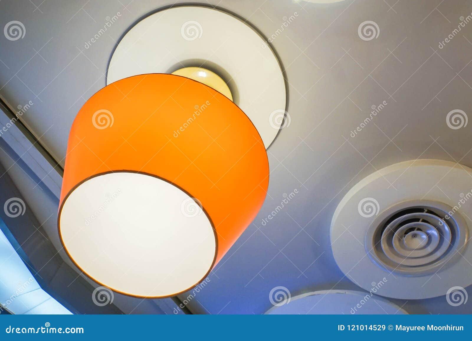 Tono Restaurante Del Techo Del Lámpara Naranja Colgante En OkXiZuP