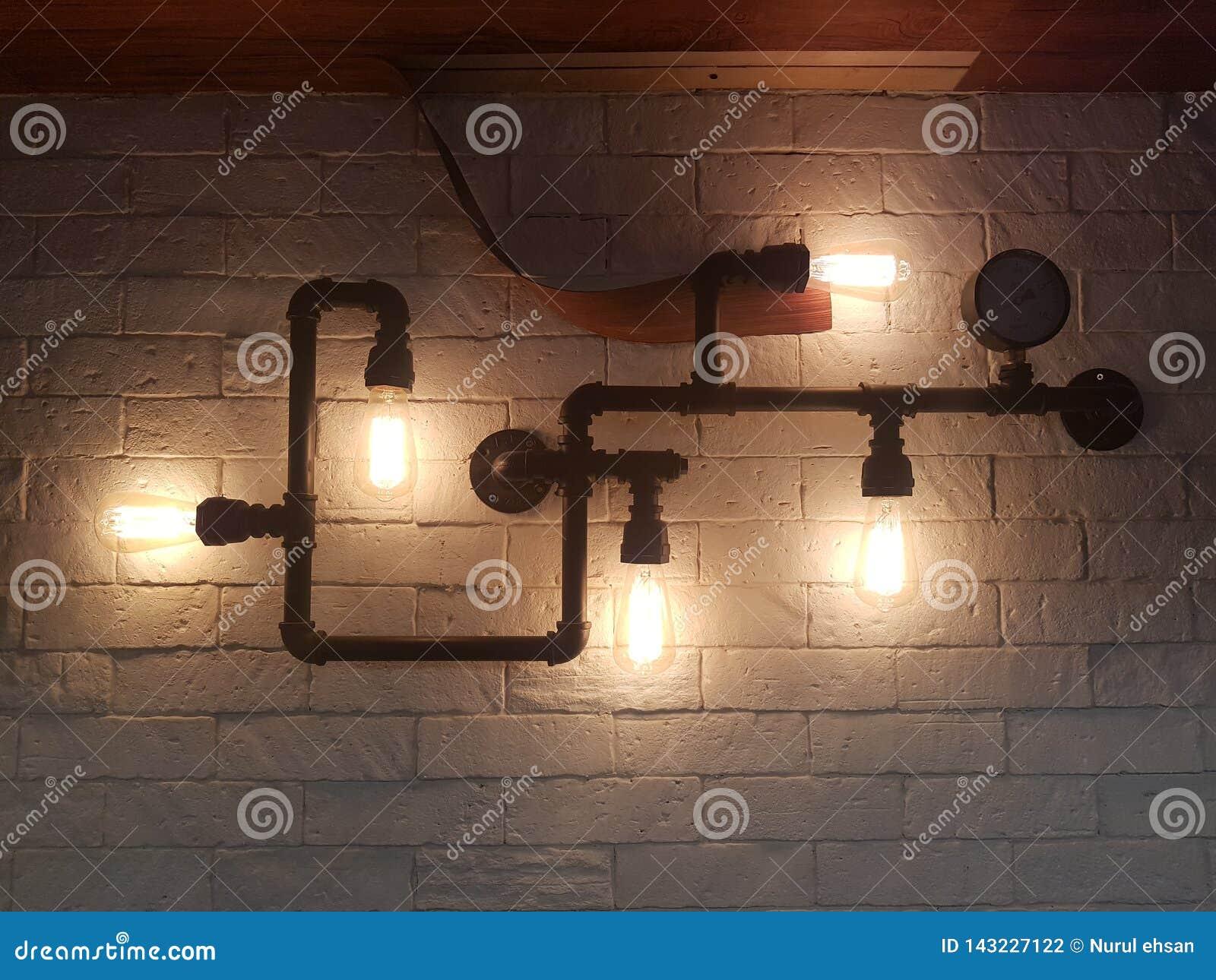 Lámpara creativa industrial