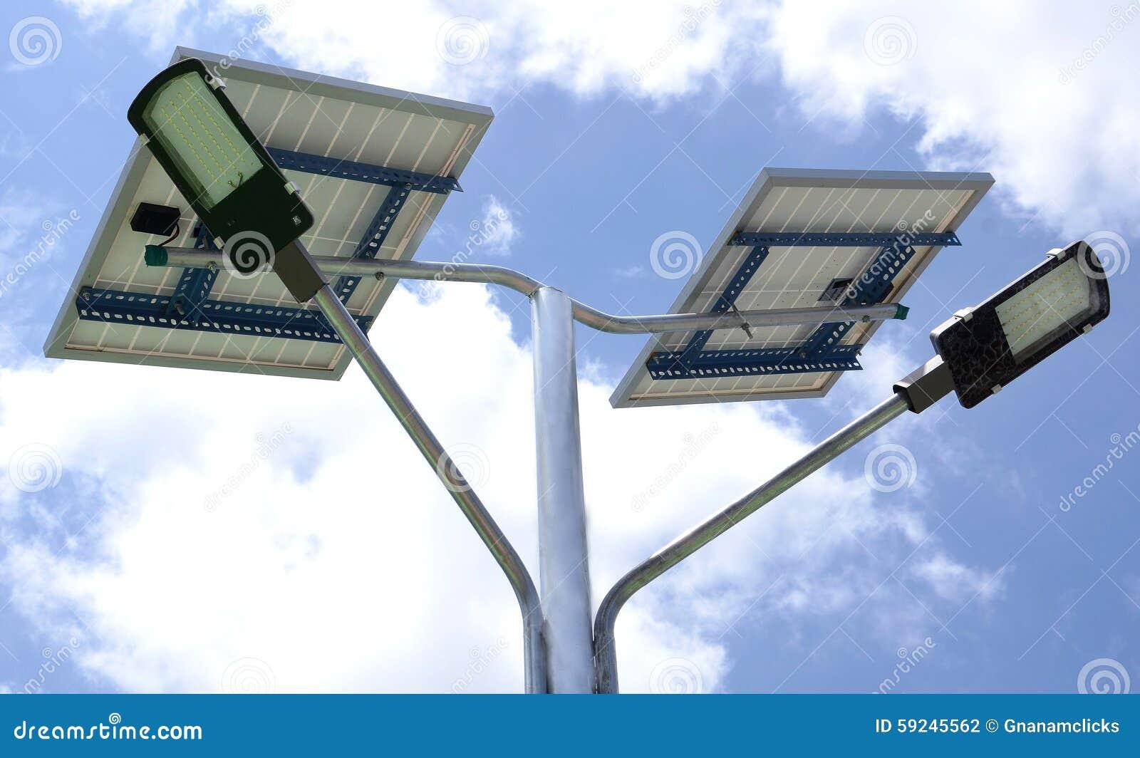 Download Lámpara De La Potencia De Solor Foto de archivo - Imagen de ambiental, energía: 59245562