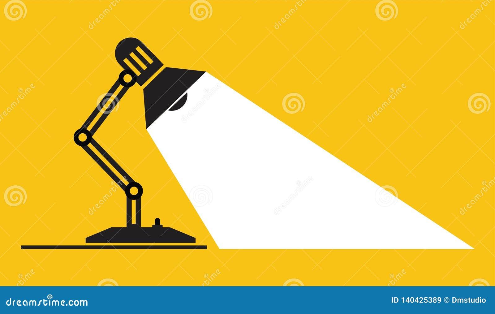 Lámpara de mesa ajustable del vector