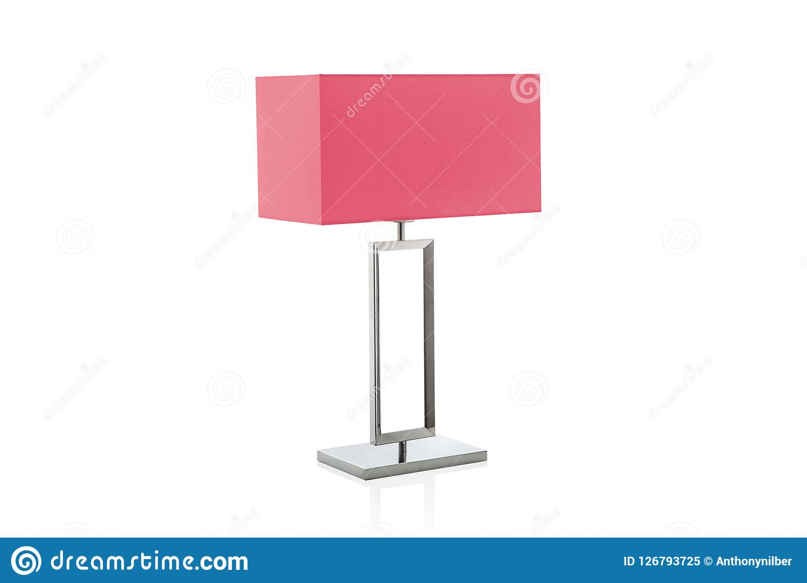 de Mesa Imagen Pequeña Roja De Lámpara Con Pantalla Moderna 7gyb6f