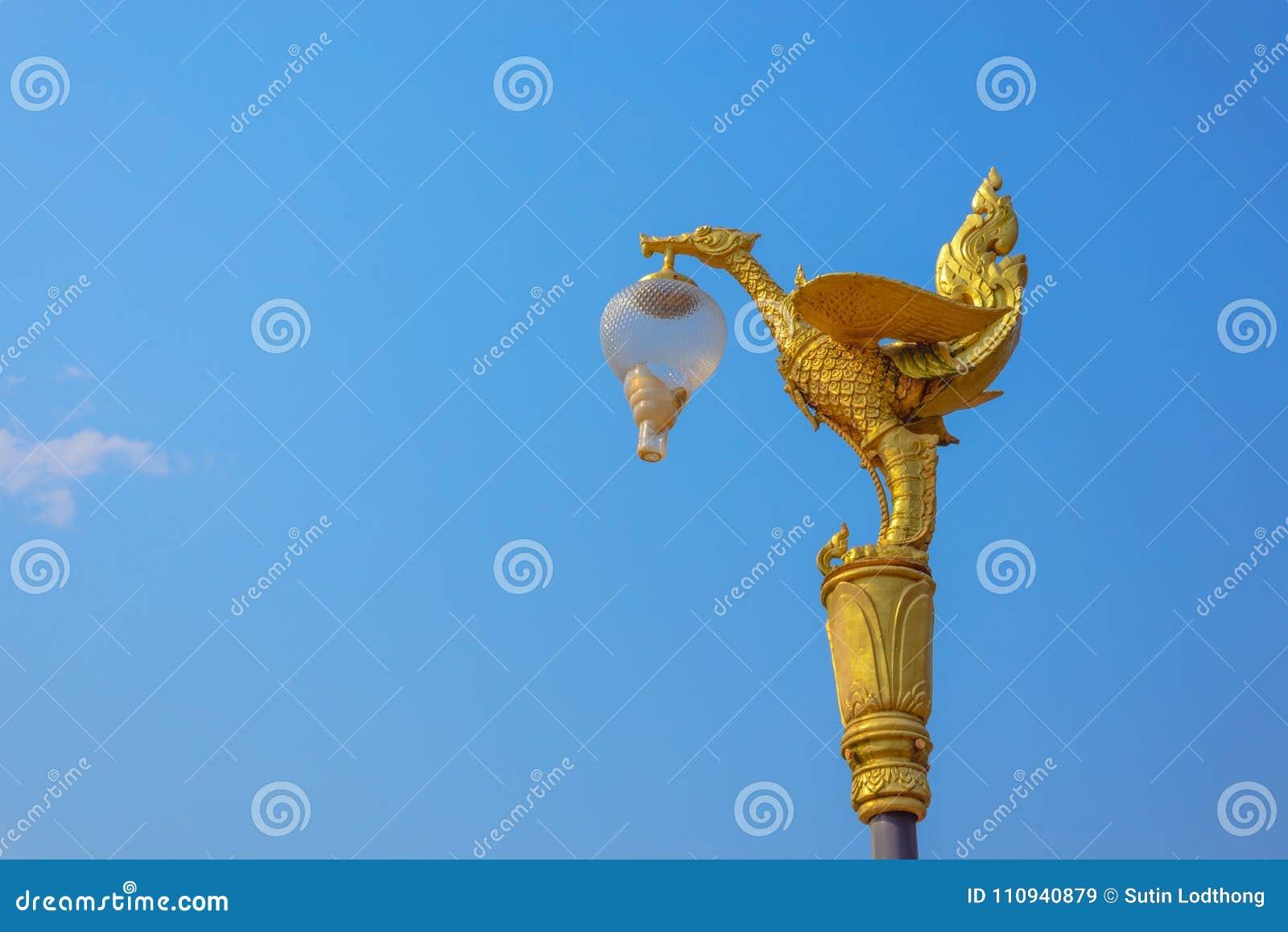 Lámpara de oro del cisne