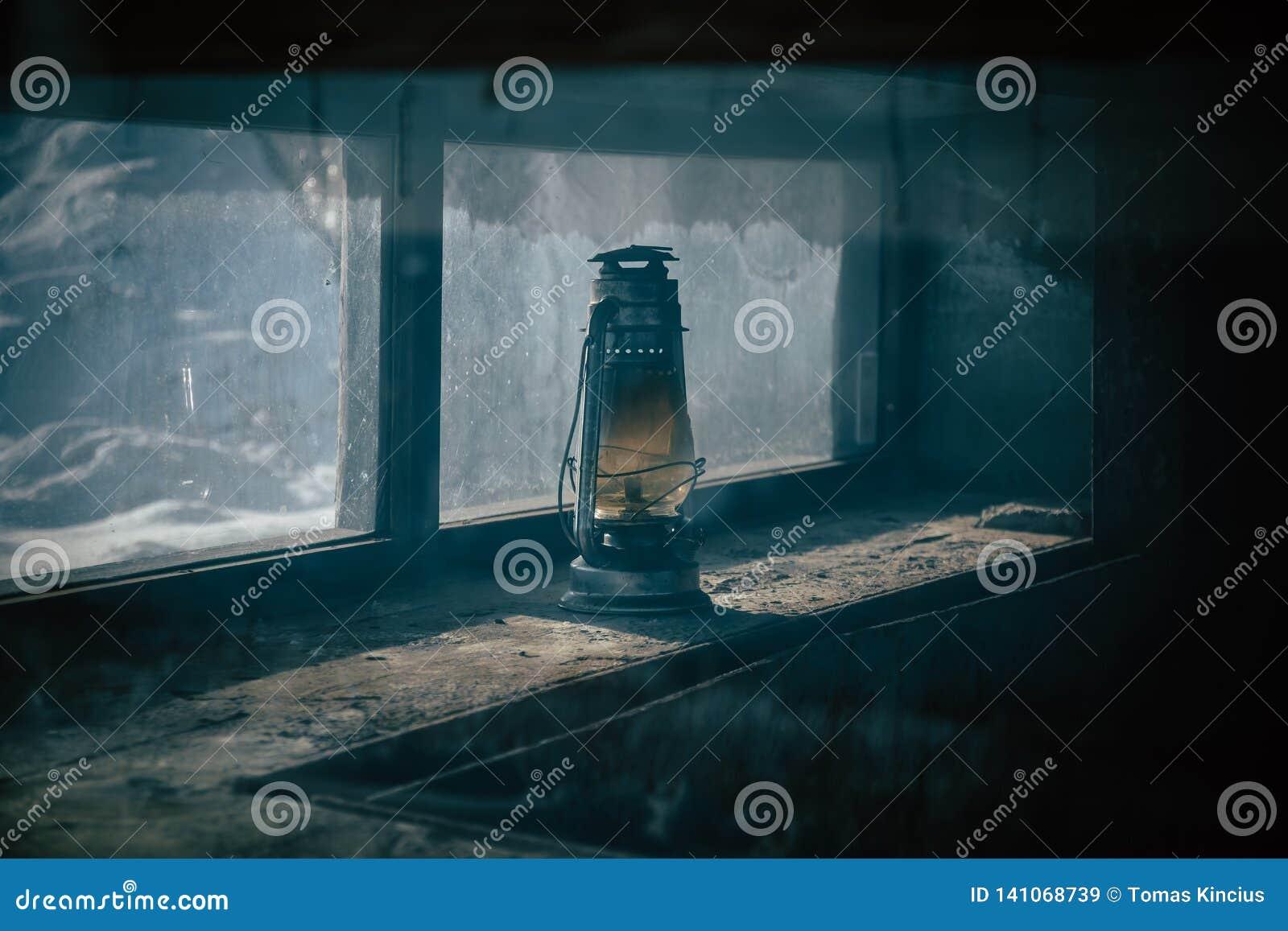 Lámpara de petróleo vieja
