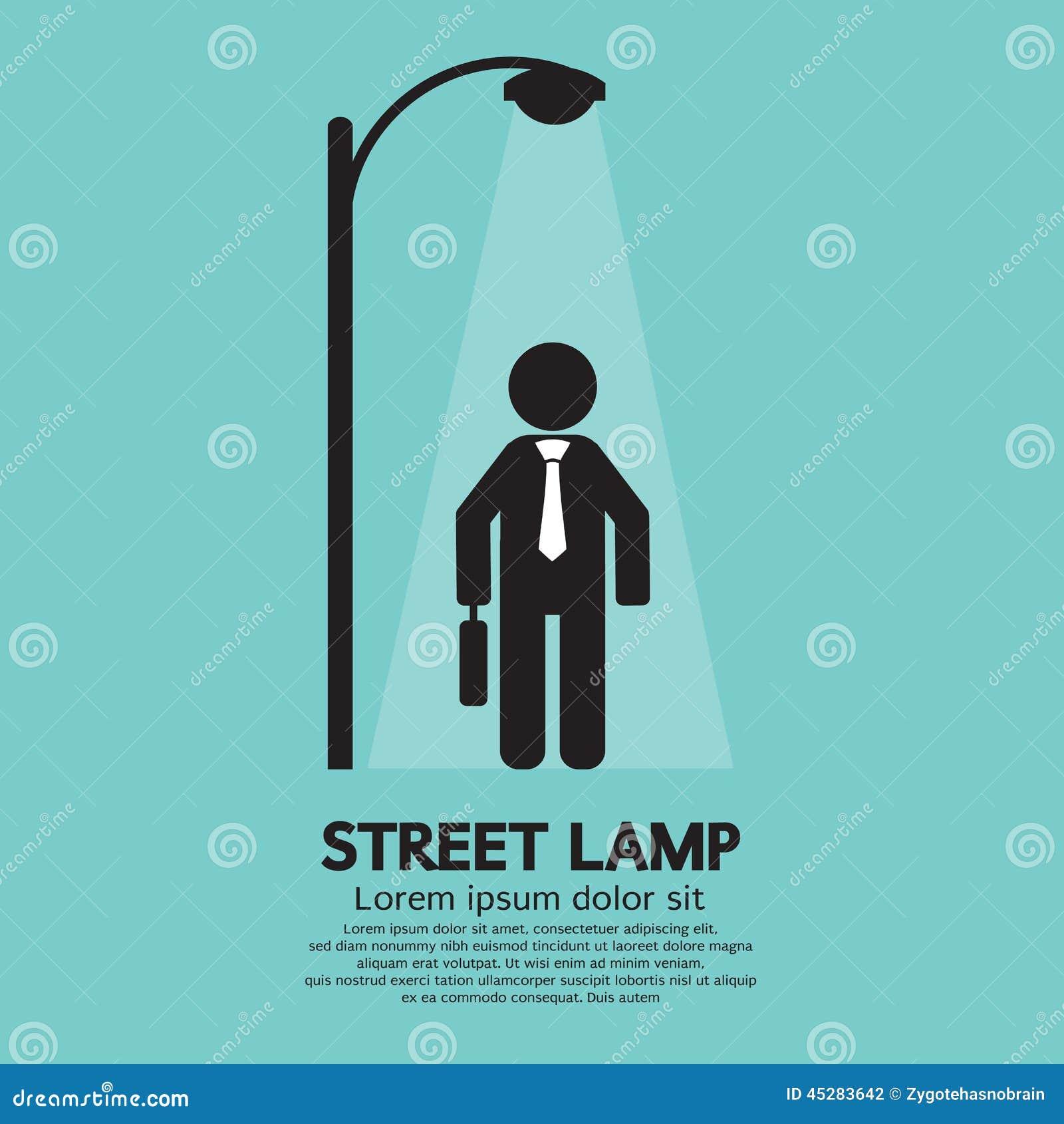 Lámpara de Walking Under Street del hombre de negocios