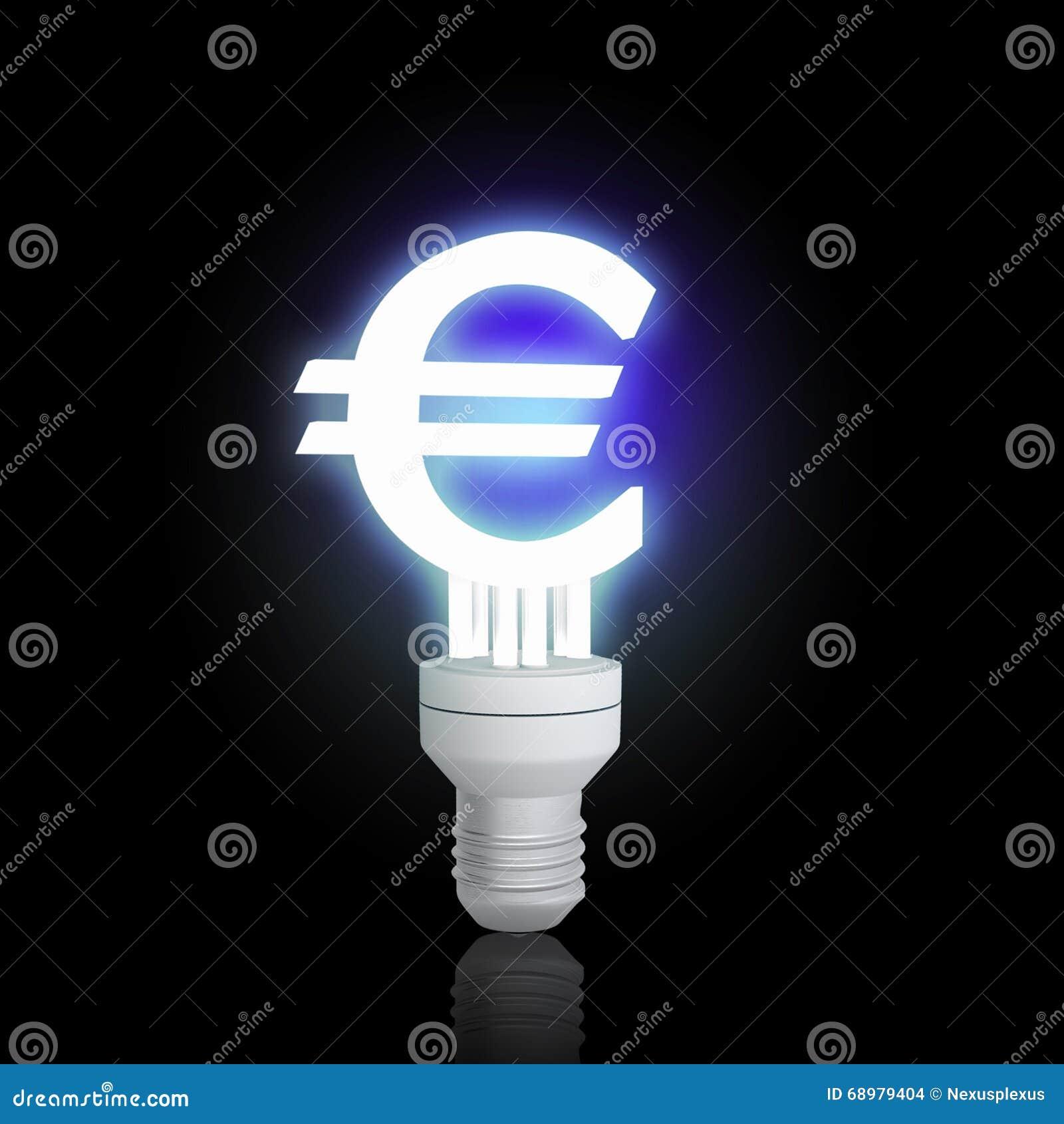 Lámpara euro de la muestra