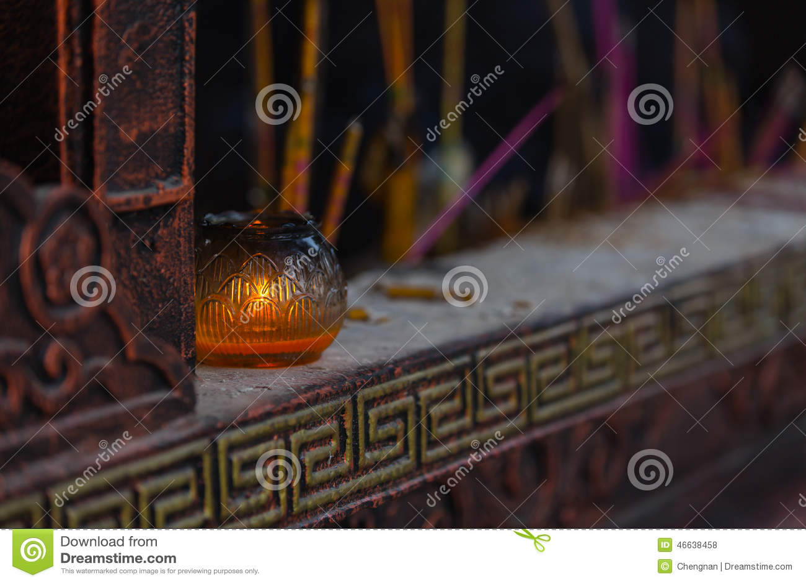 Lámpara experimental del templo