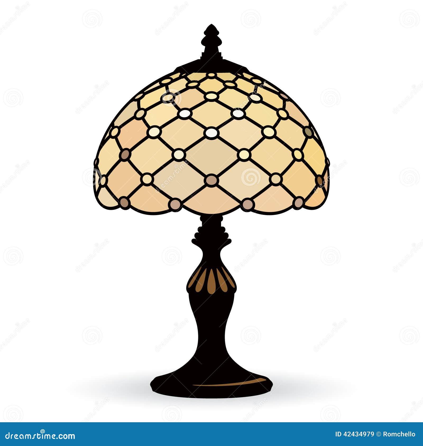 Lámpara vieja del vector