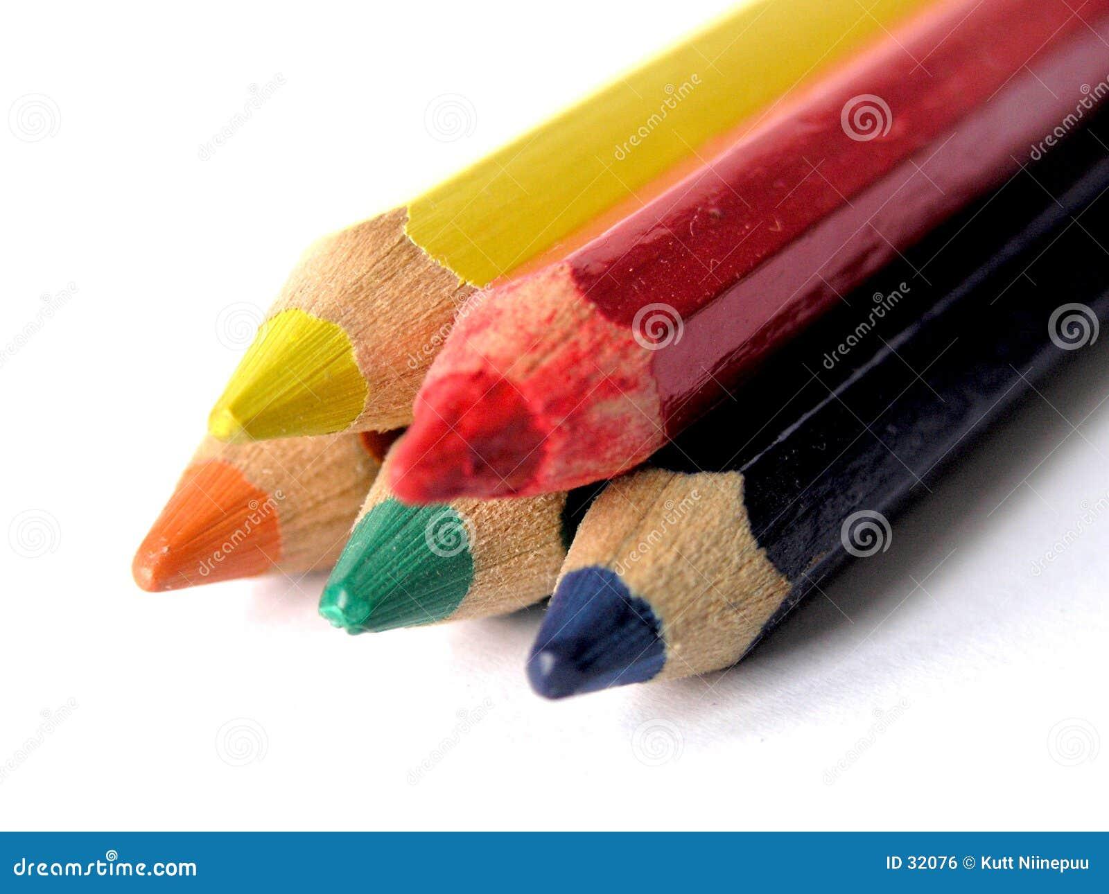 Download Lápices coloreados foto de archivo. Imagen de pirámide, creatividad - 32076