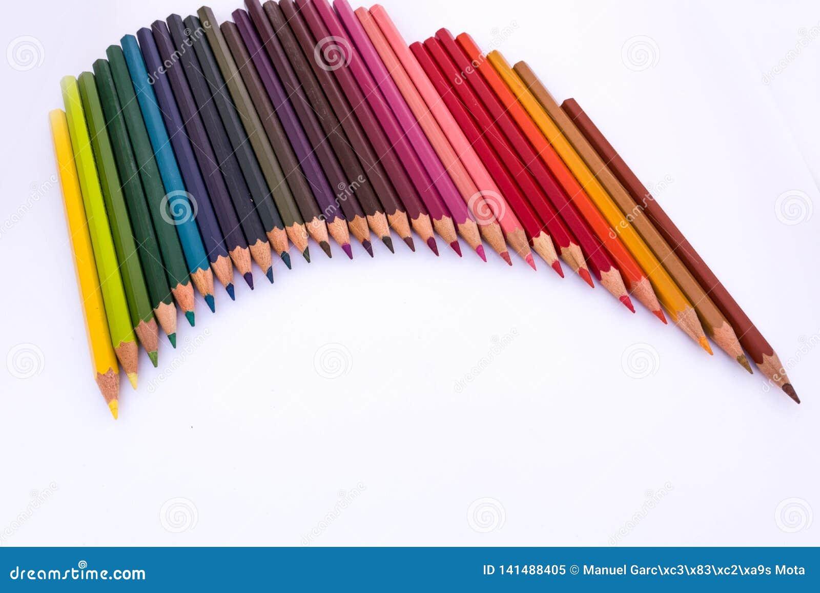 Lápices coloreados de madera