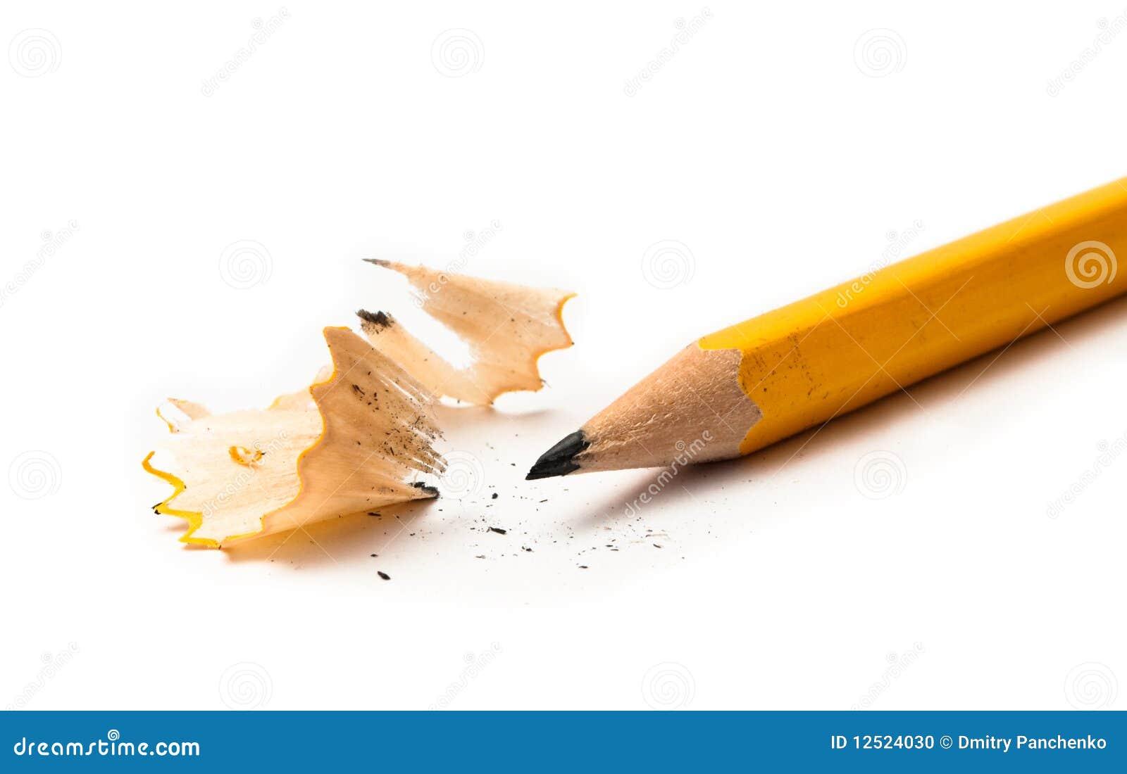 Lápis amarelo afiado