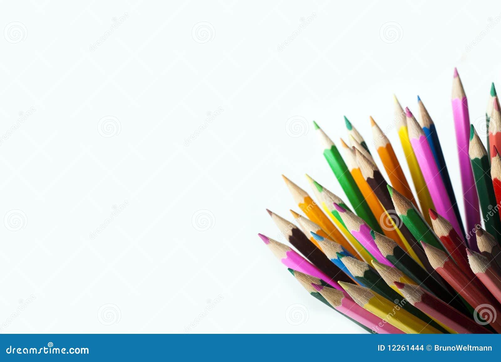 Lápis coloridos na caneca!