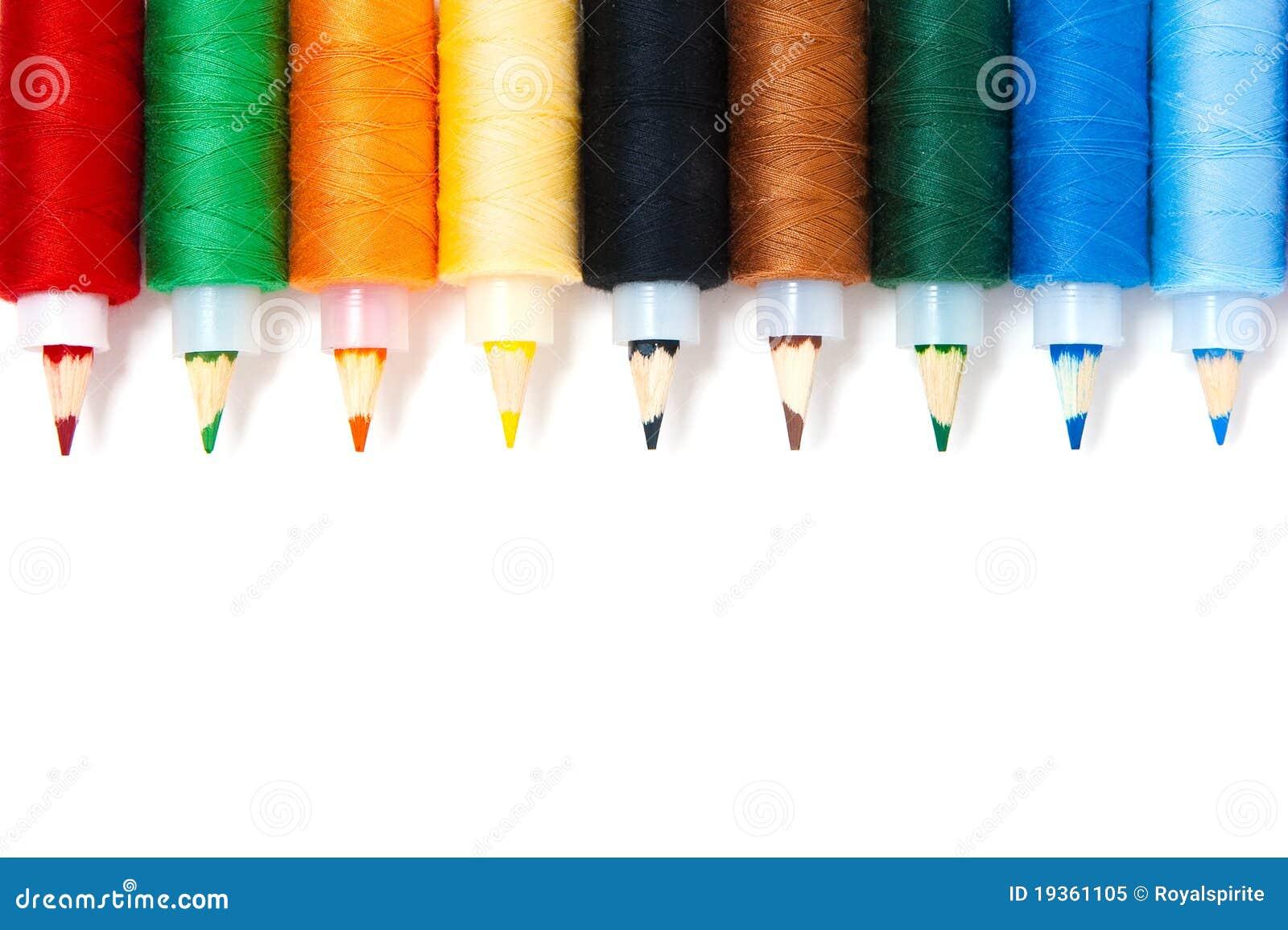 Lápis com linha
