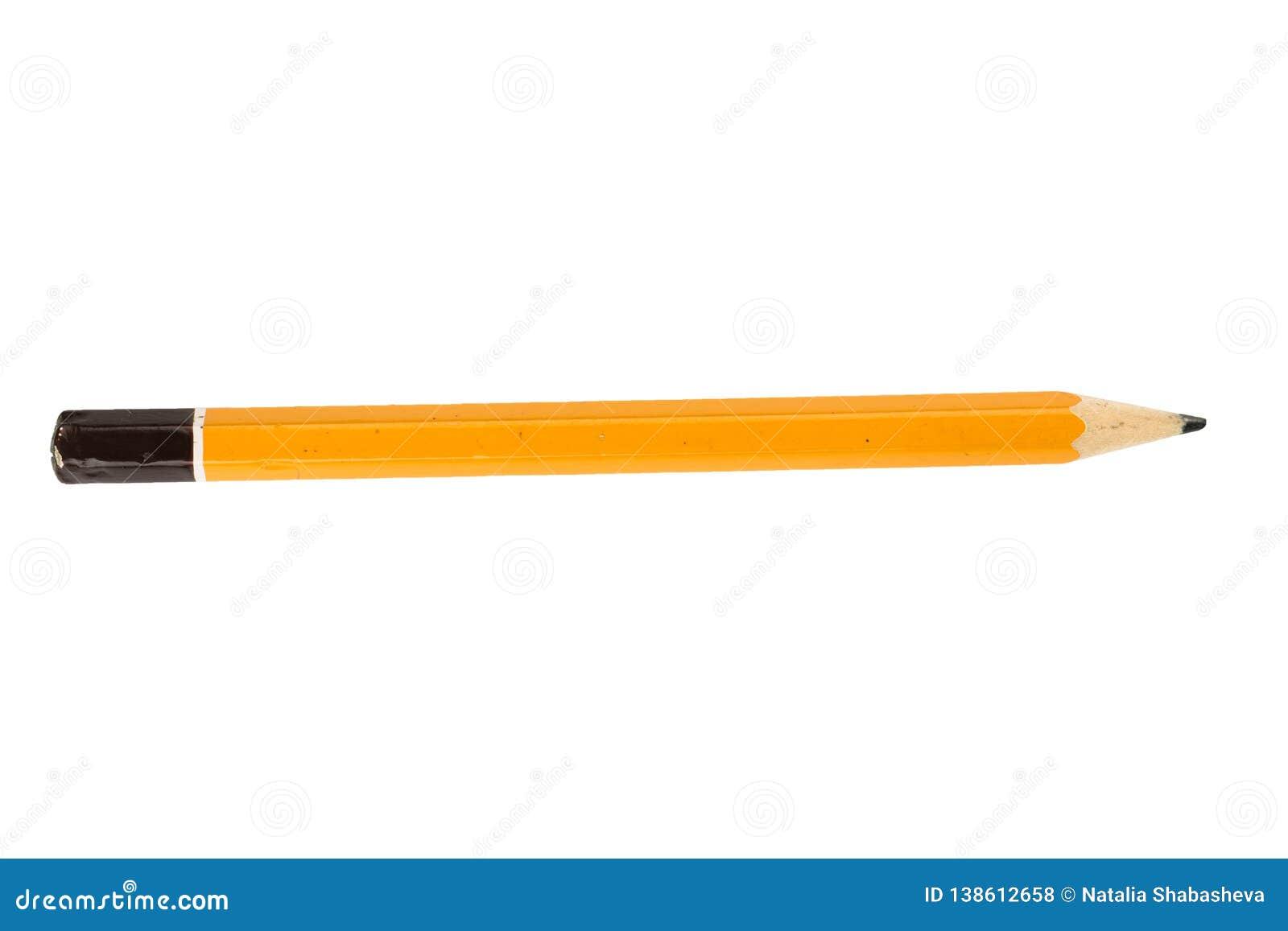 Lápis curto amarelo no isolado