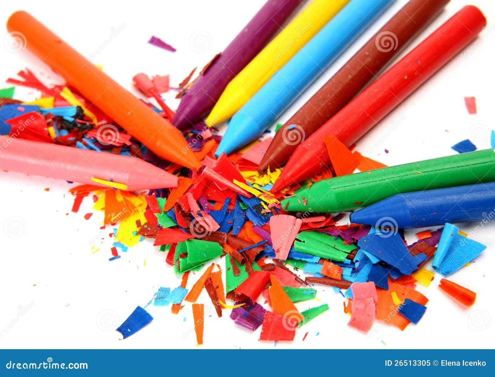Lápis da cera da cor