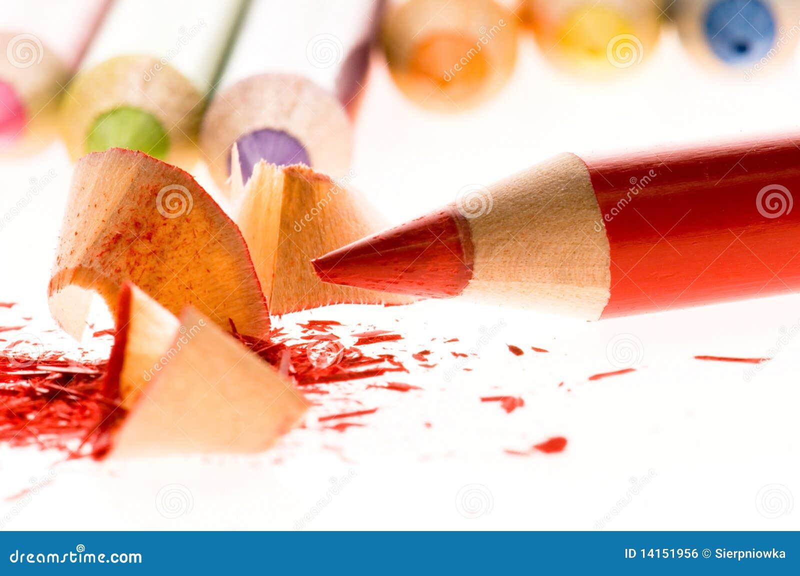 Lápis e aparas de madeira Sharpened