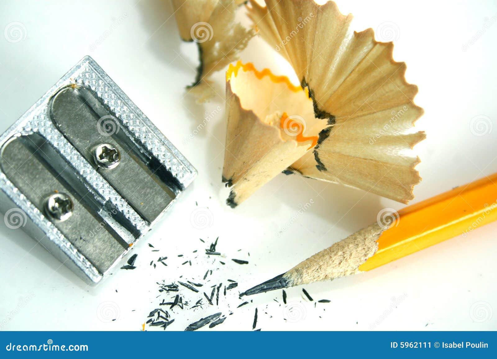 Lápis e sharpener
