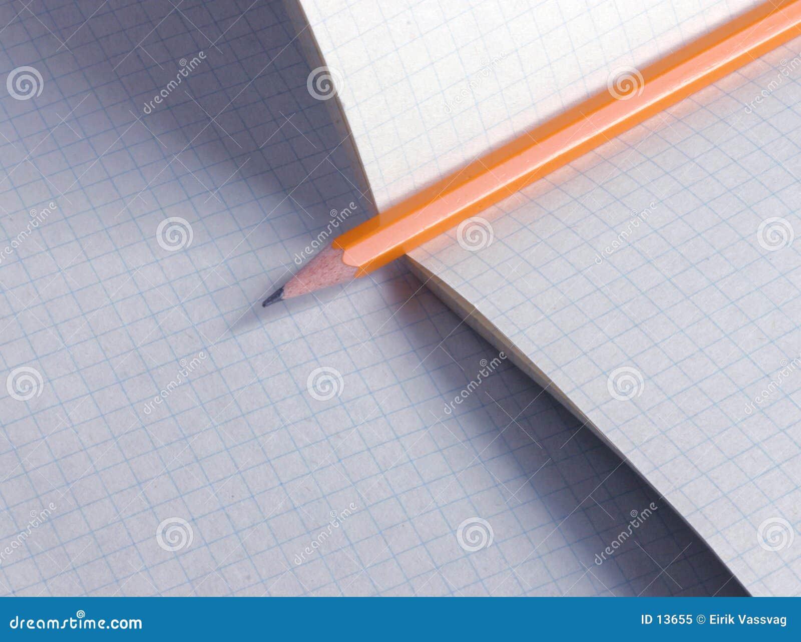 Lápis no papel