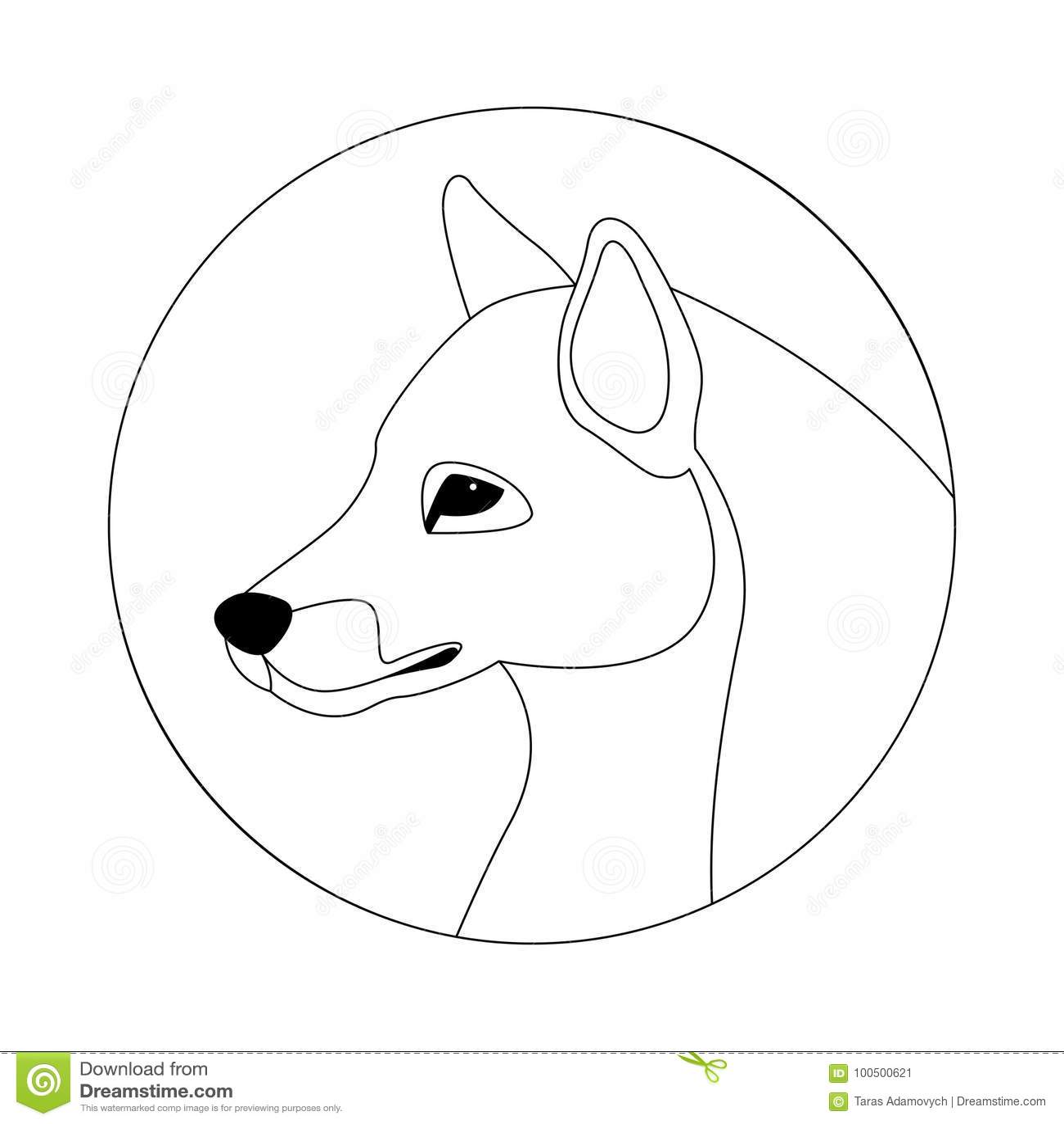 A Lapis Principal Desenho Da Ilustracao Do Vetor Do Lobo