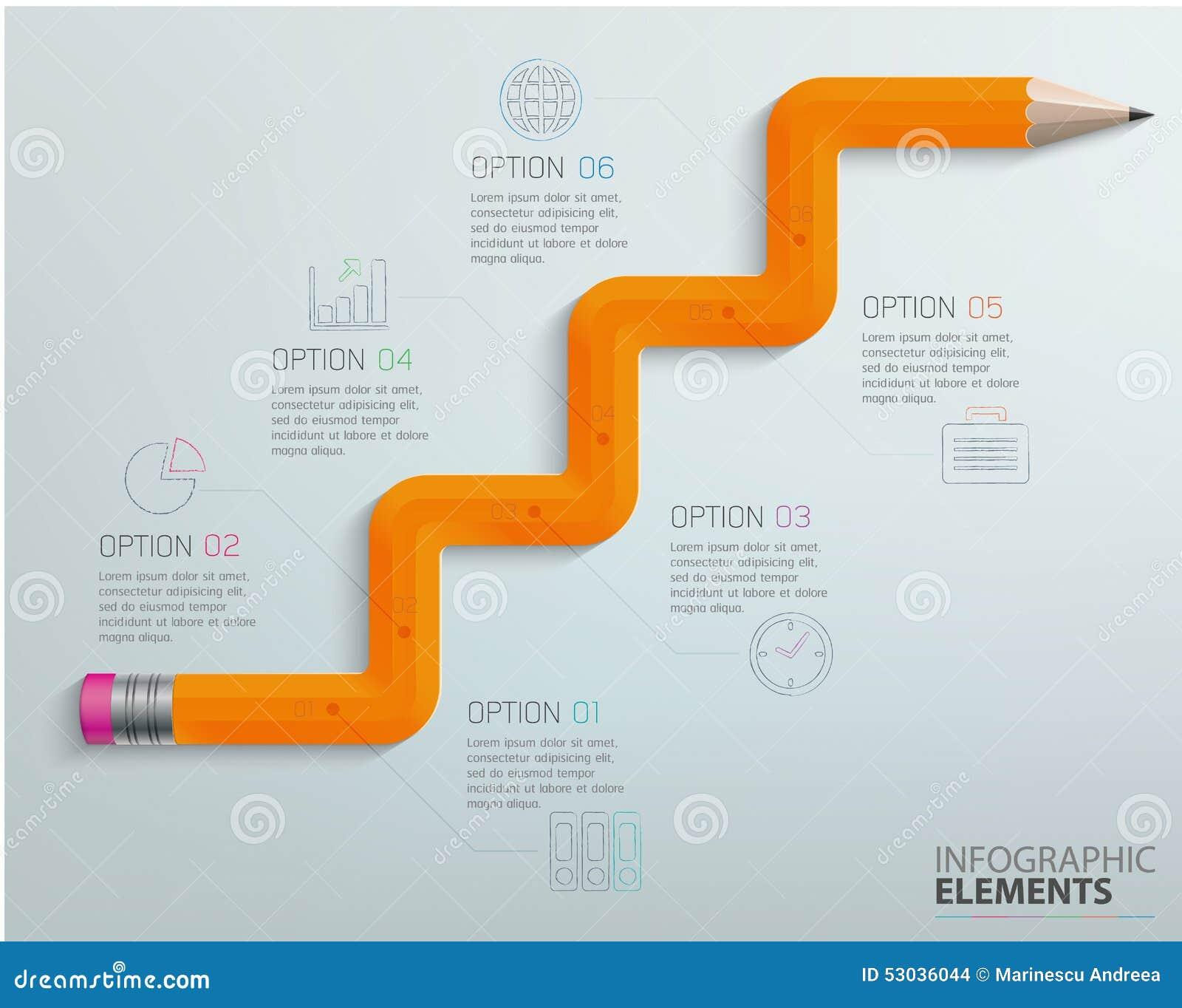 Lápiz del gráfico de la información