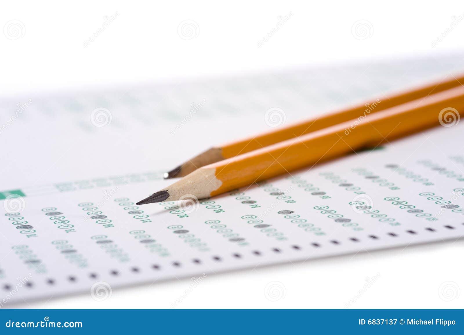 Lápiz en examen