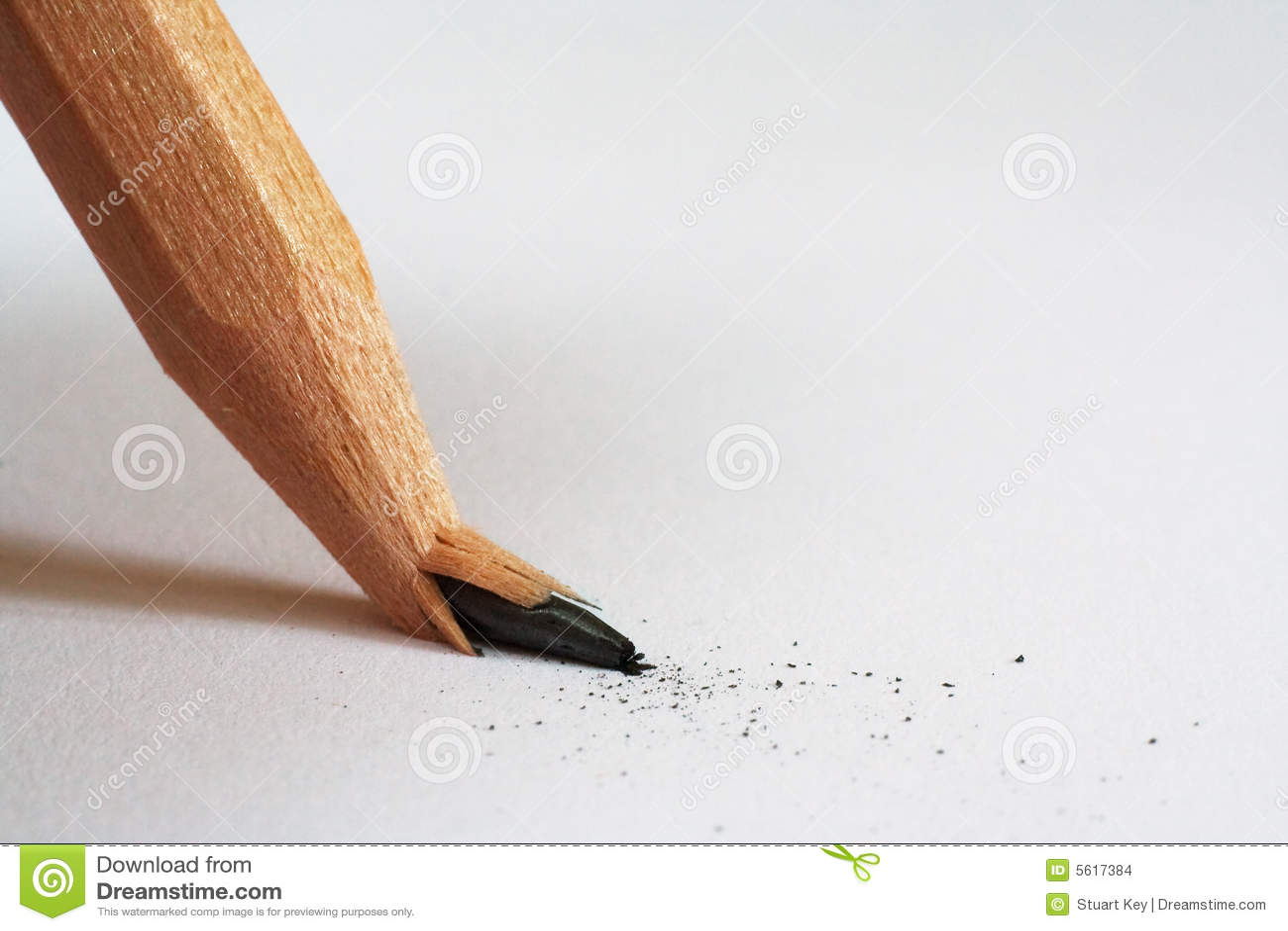 Lápiz quebrado