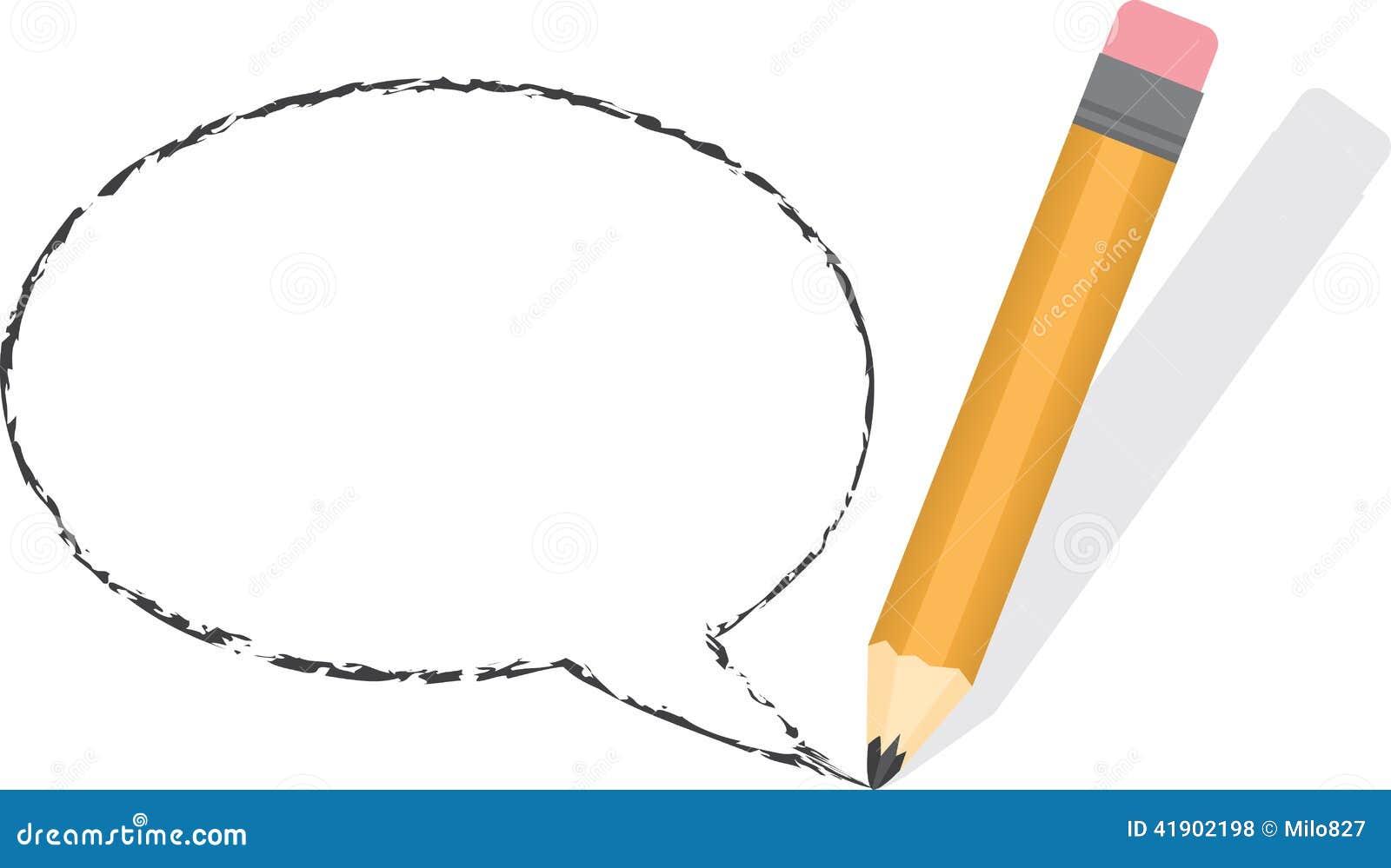 Lápiz vacío de la burbuja del discurso