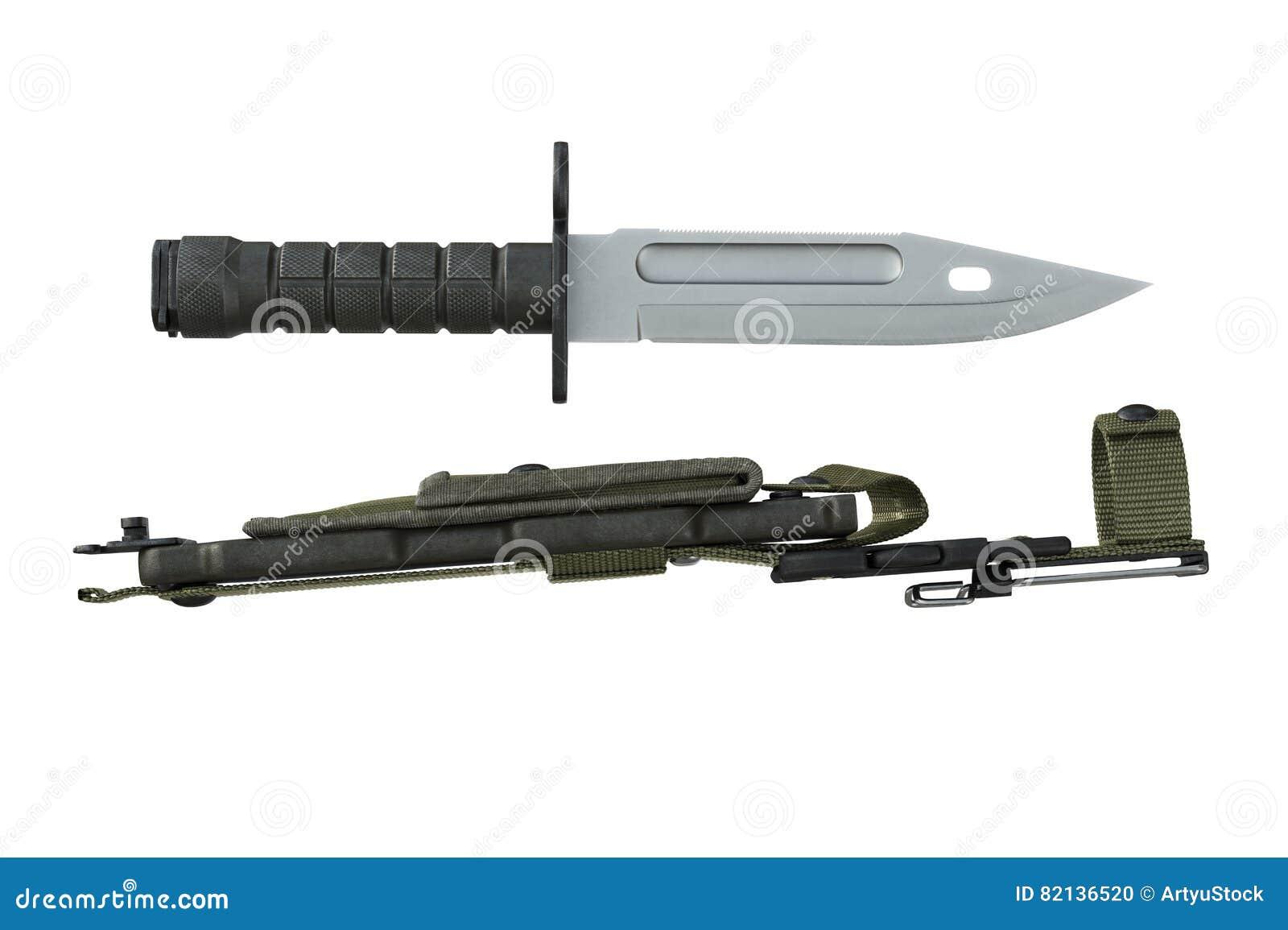 0b1c0e8075 Lâmina de aço do exército da faca para a batalha e a proteção, vista  lateral rendição 3d. Mais ilustrações de stock similares