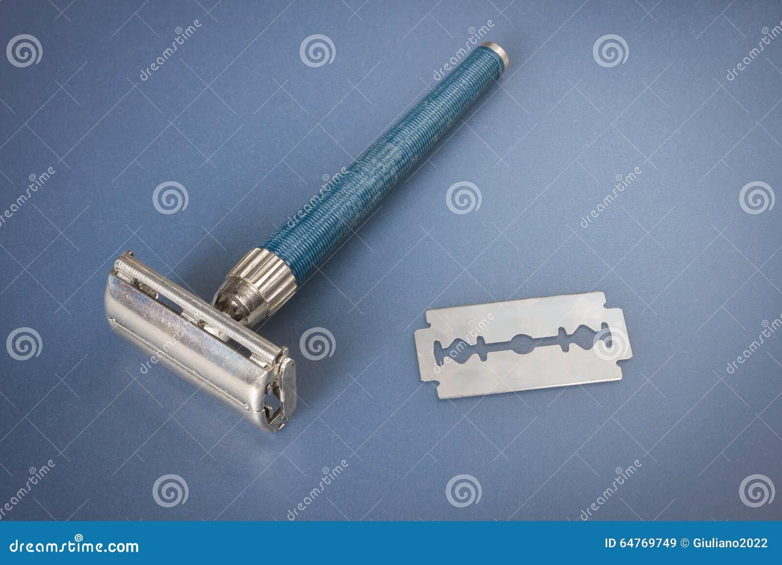 Lâmina e lâmina usadas velhas