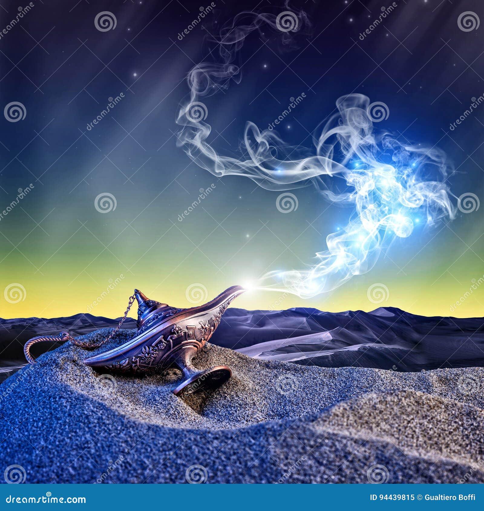 Lâmpada de Aladdin mágica