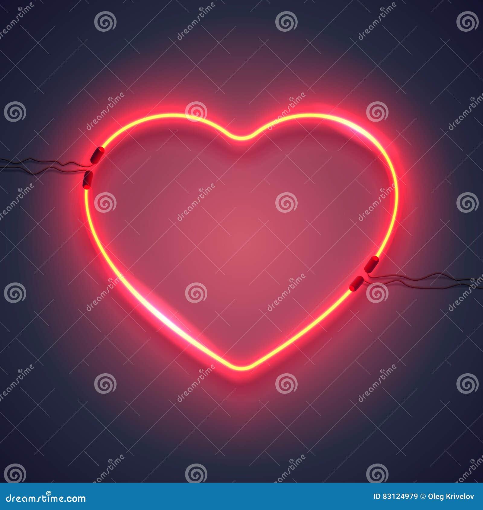 Lâmpada de néon heart-01