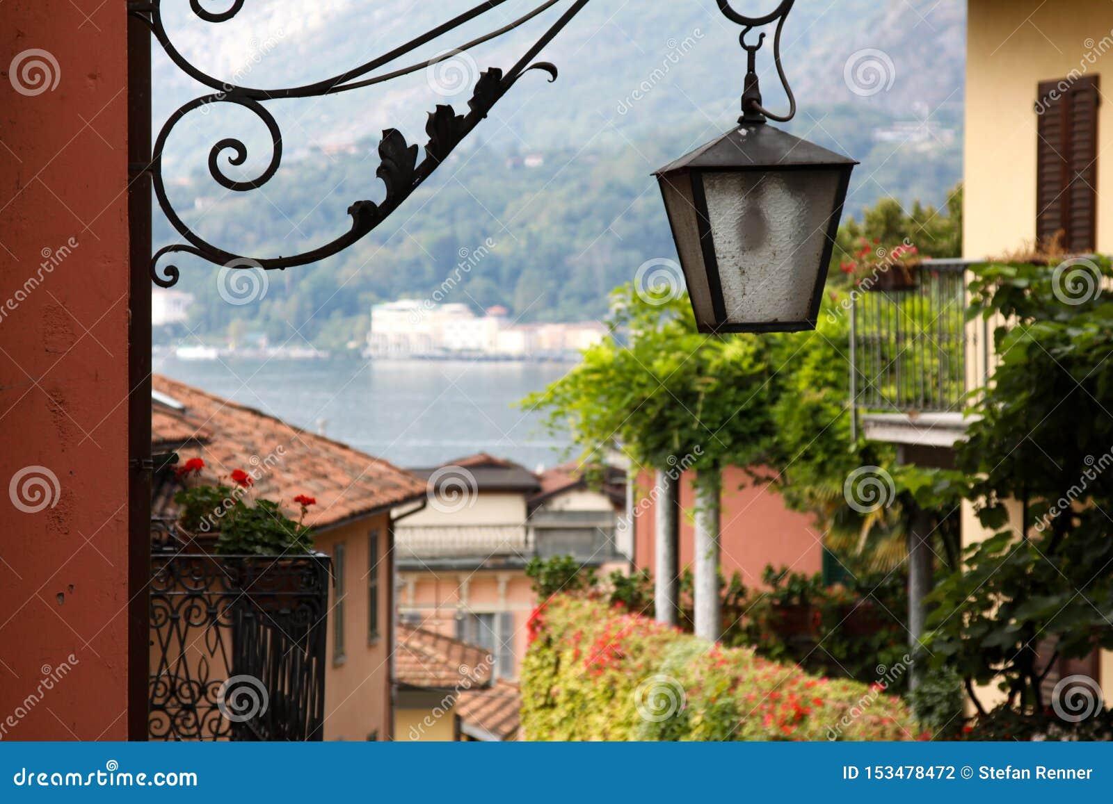 Lâmpada de rua de Bellagio