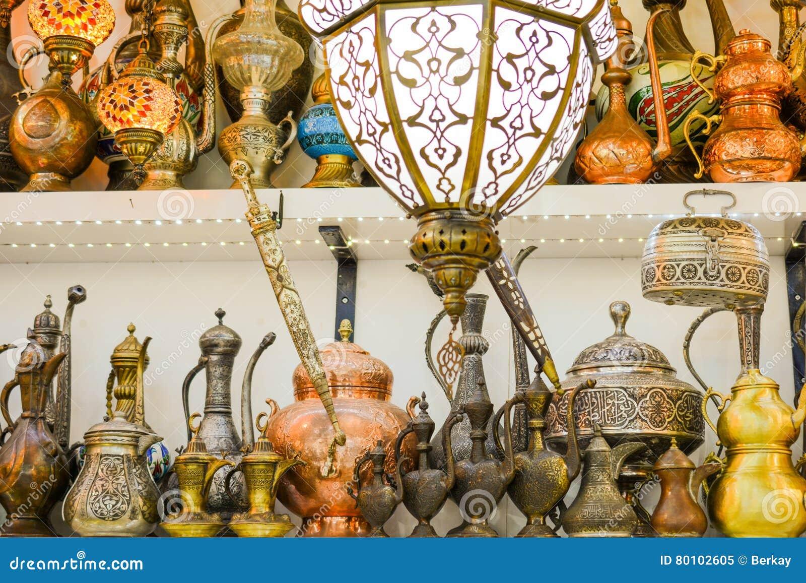 Lâmpadas do otomano do mosaico do bazar grande