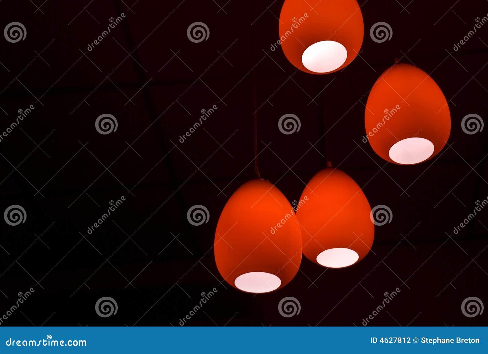 Lâmpadas vermelhas