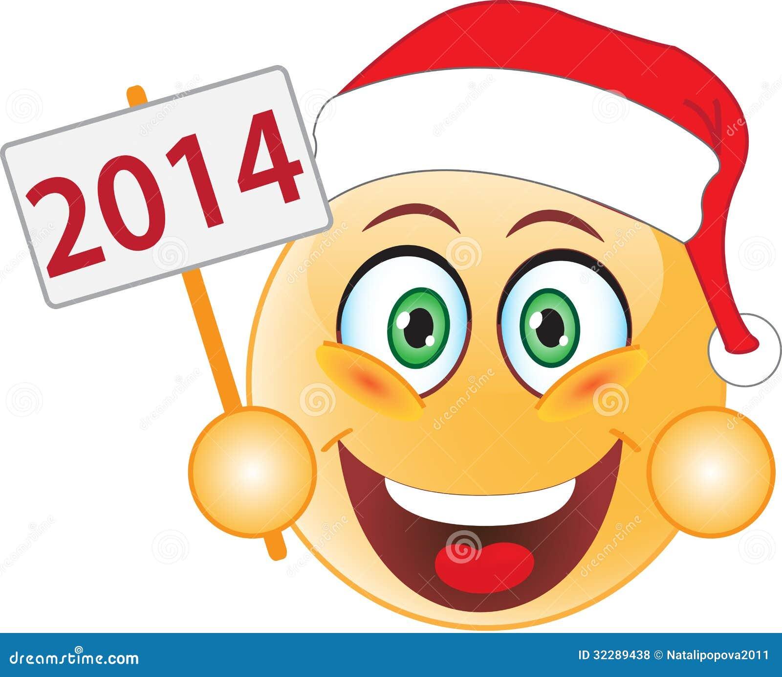 Lächeln-neues Jahr, Weihnachten. Lächeln. Stock Abbildung ...