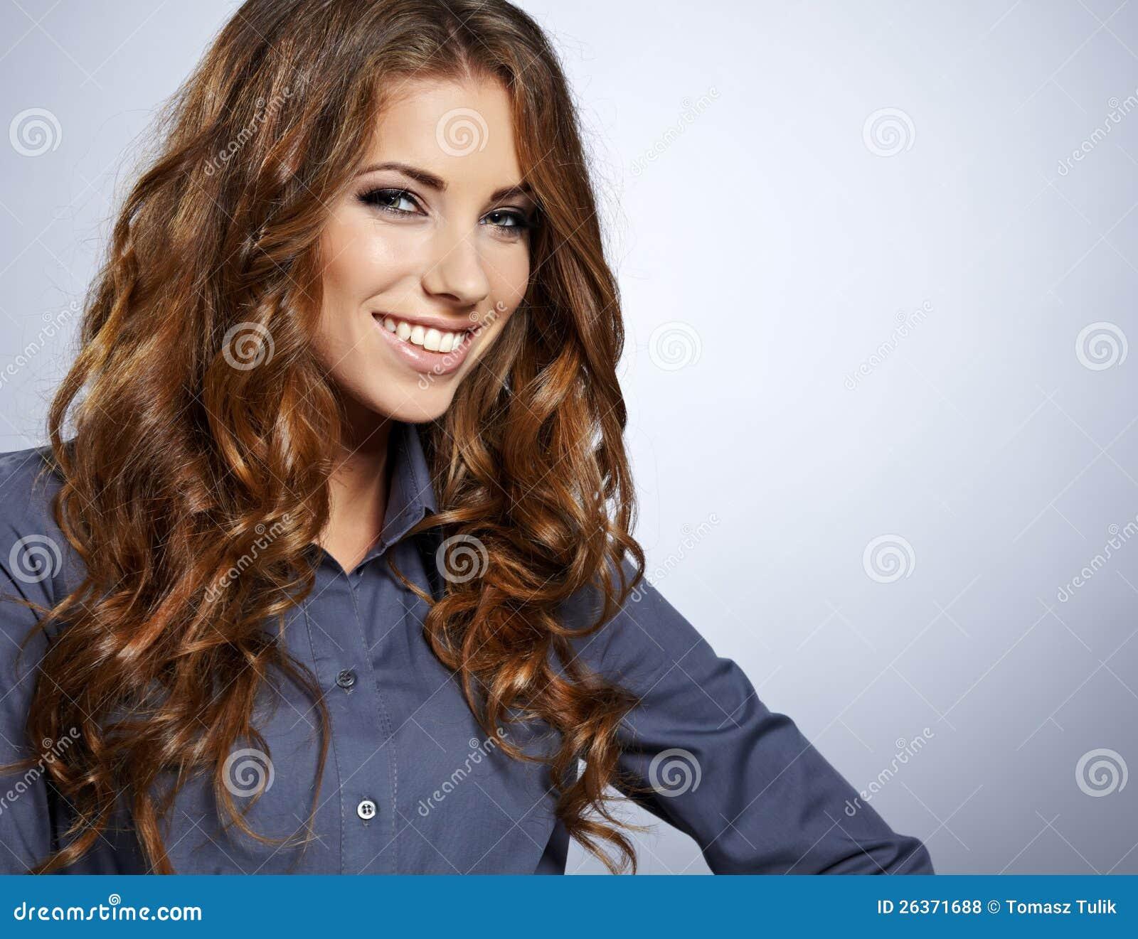 Lächelnde Geschäftsfrau.