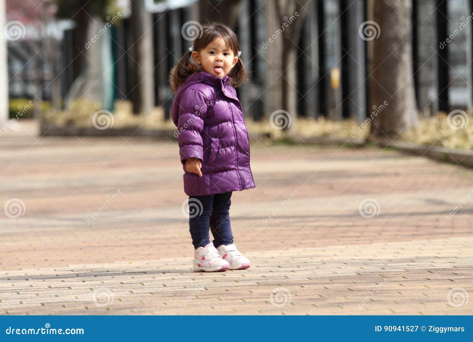 Alt Japanisch Junges Mädchen