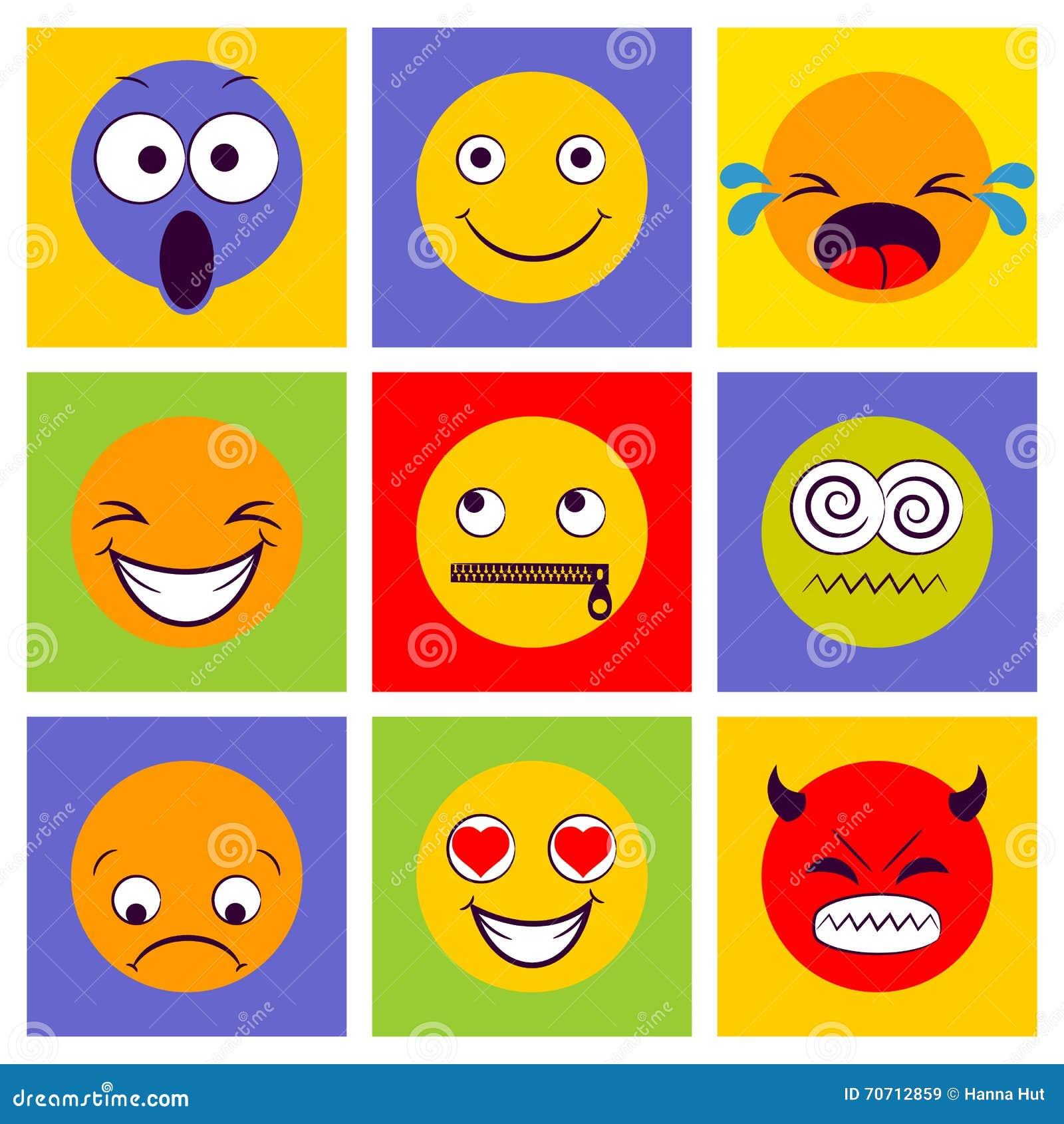 gefühle smileys zum ausdrucken