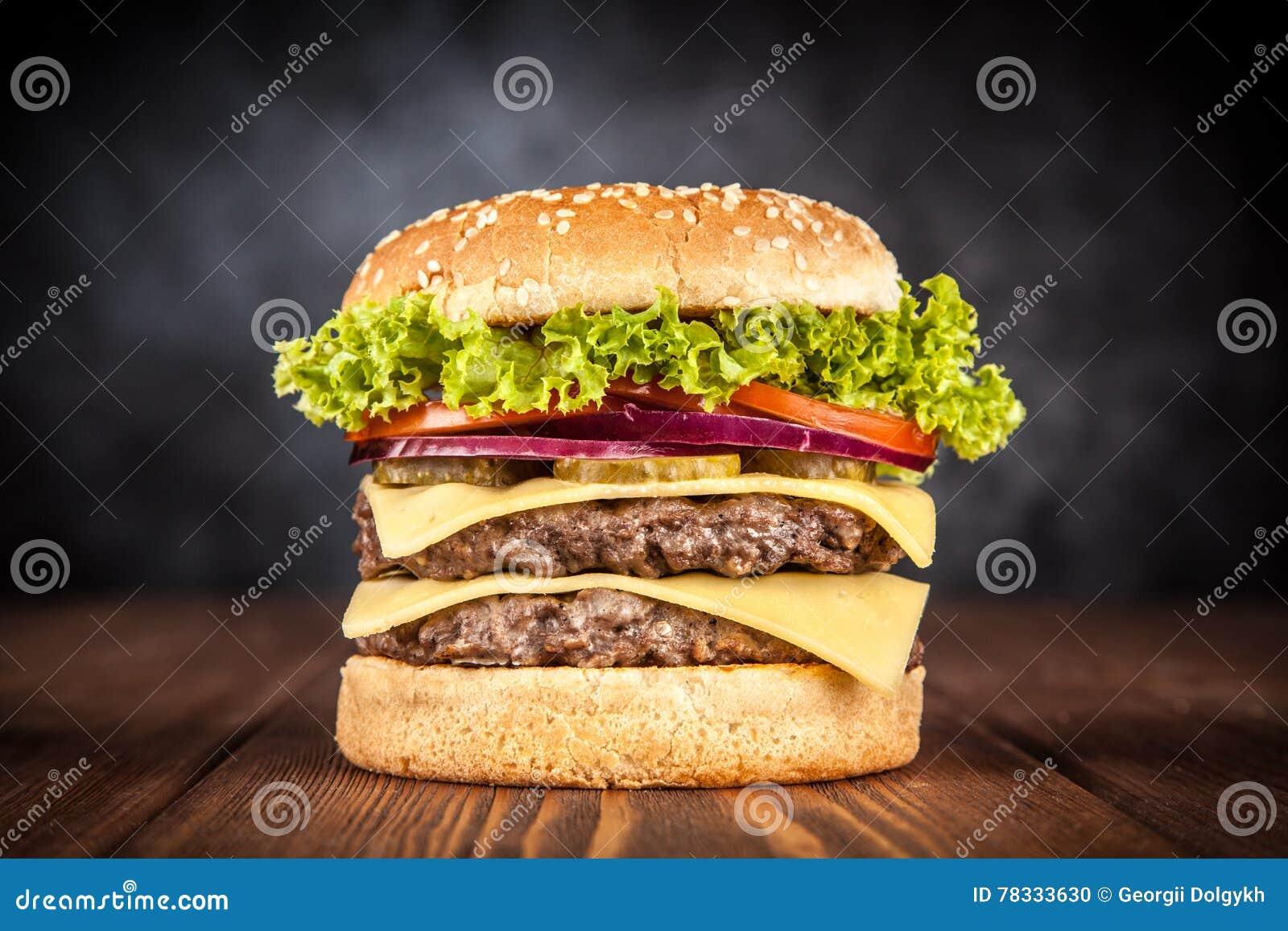 Läcker grillad hamburgare