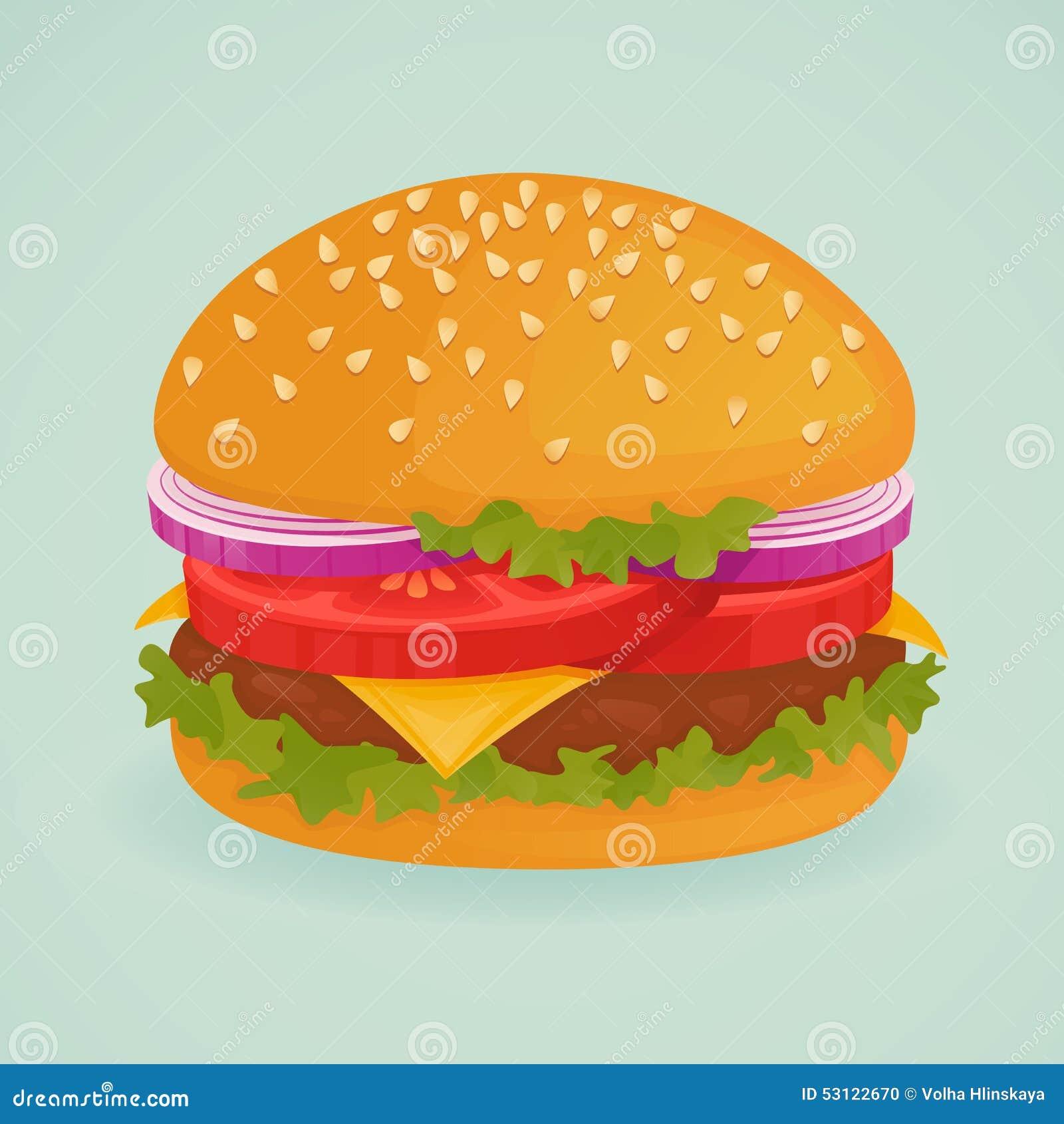 Läcker hamburgare