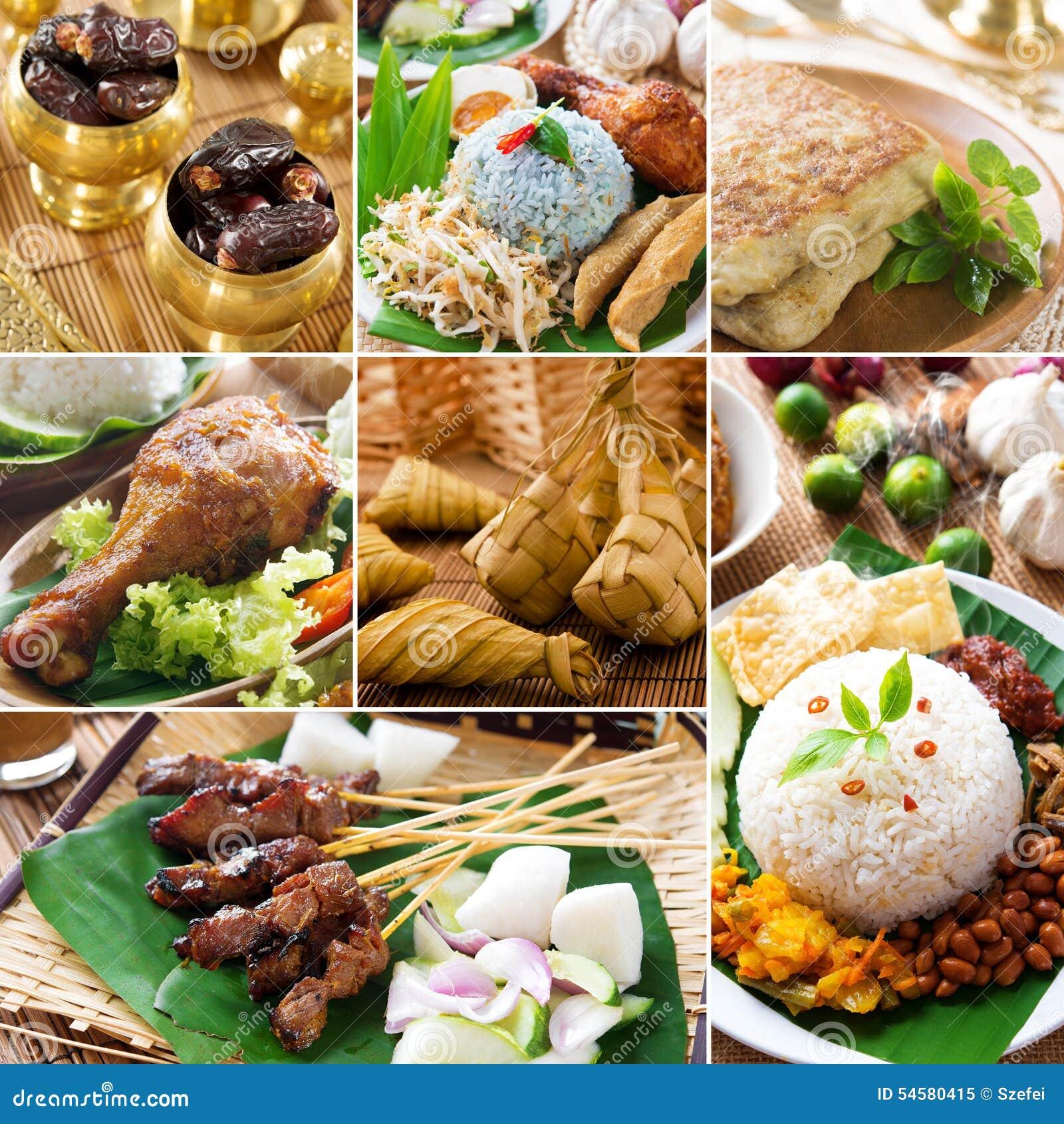 Läcker ramadan för collage mat